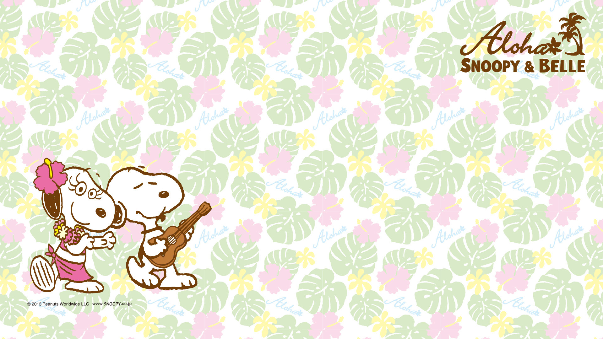 Aloha Snoopy and Belle