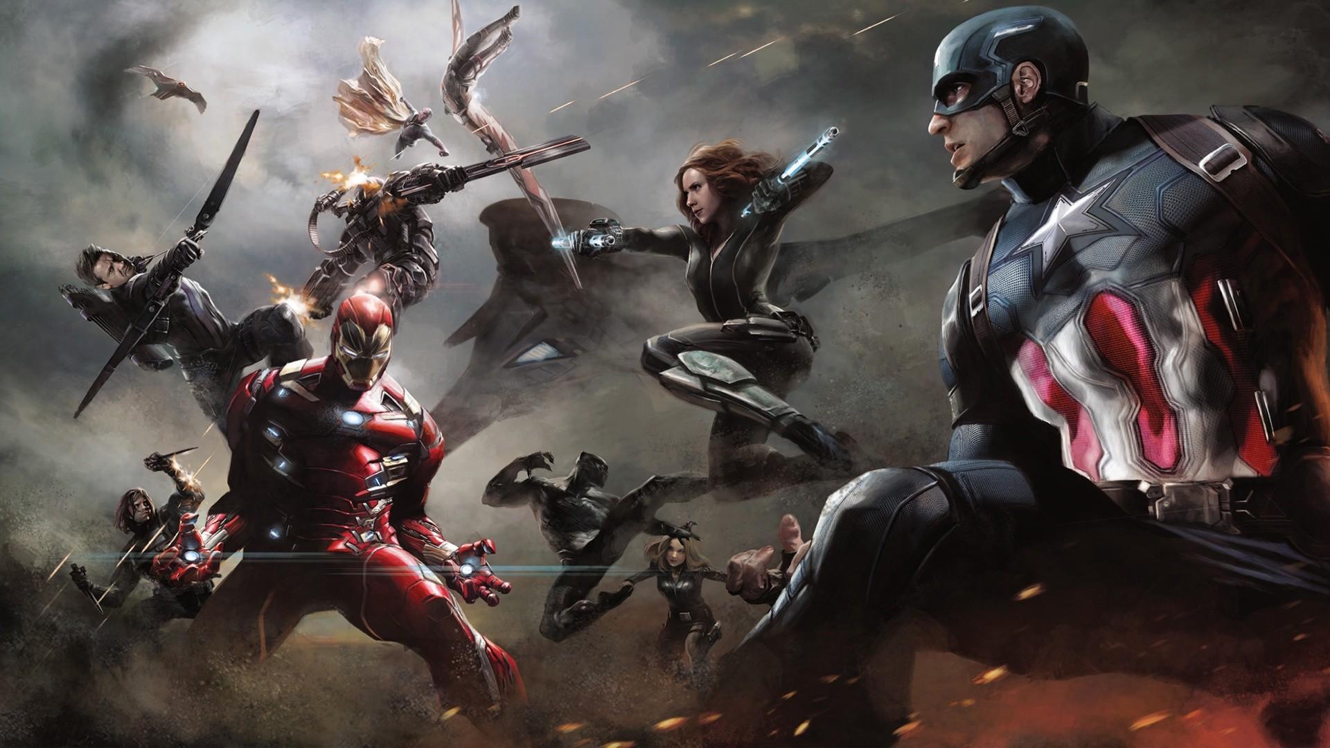 Captain America Civil War Artwork Wallpapers