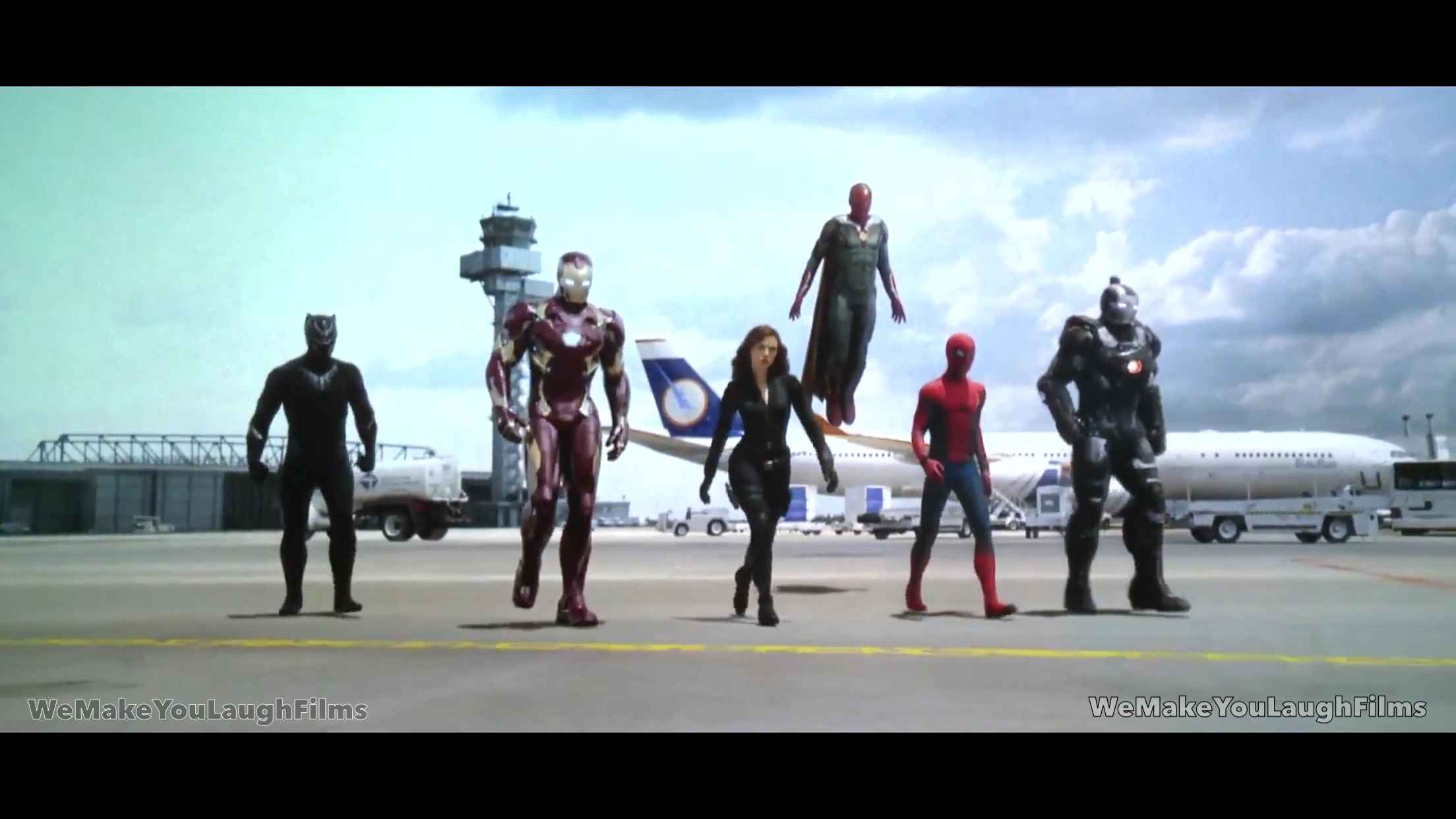 … wemakeyoulaughfilms Team Iron Man Walking – Captain America Civil War  by wemakeyoulaughfilms
