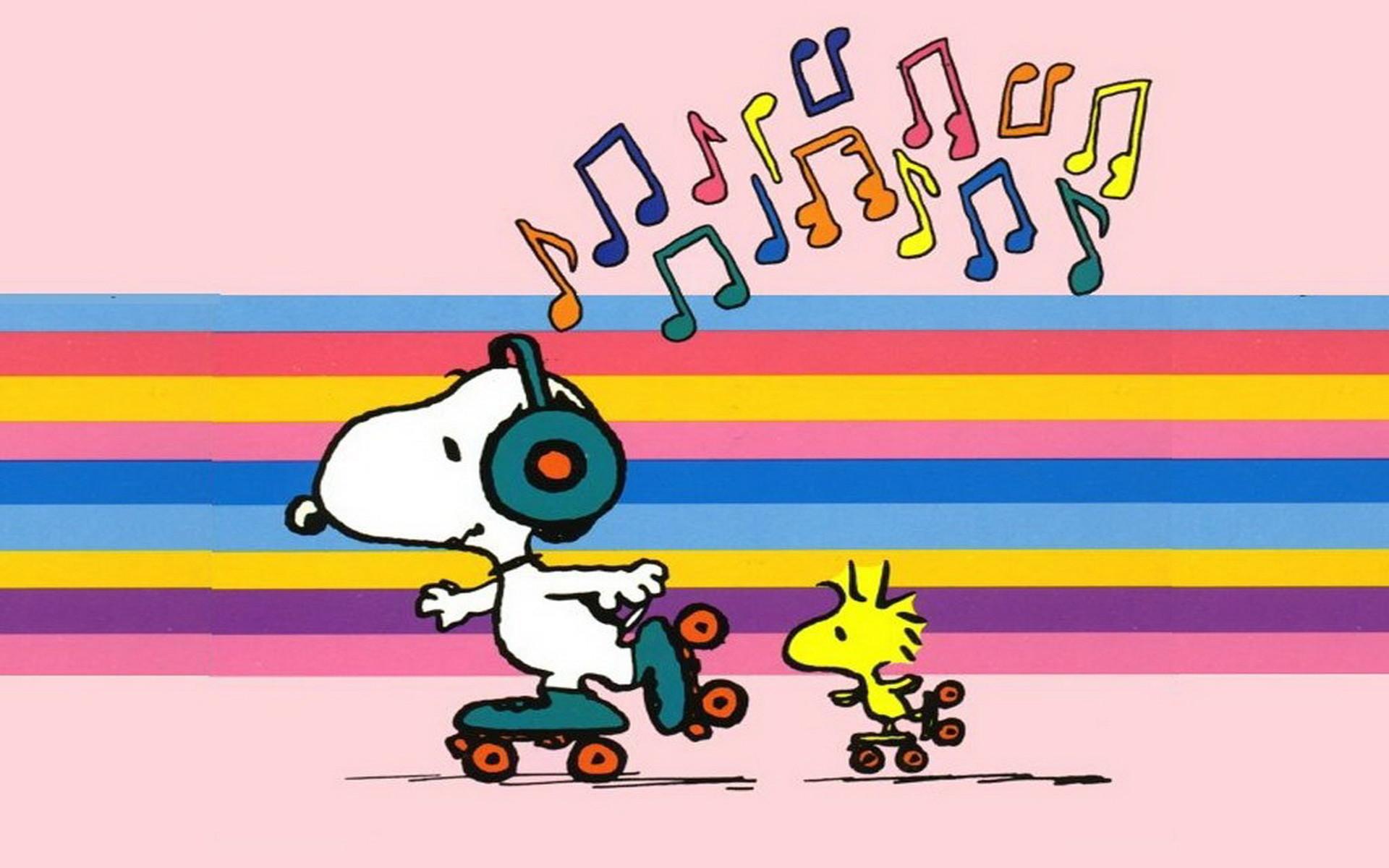 Snoopy Skating Wallpaper