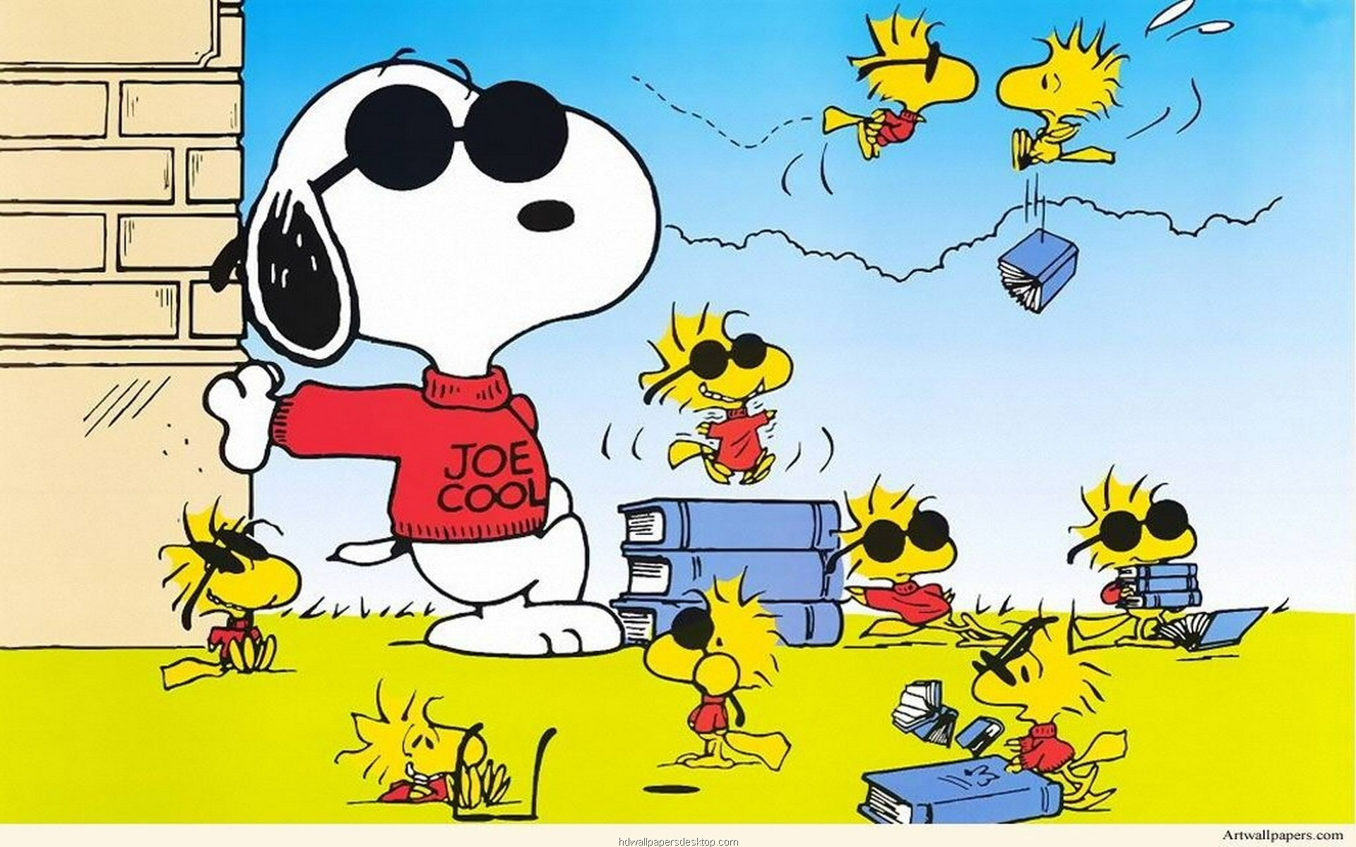 Snoopy and Woodstock Wallpaper