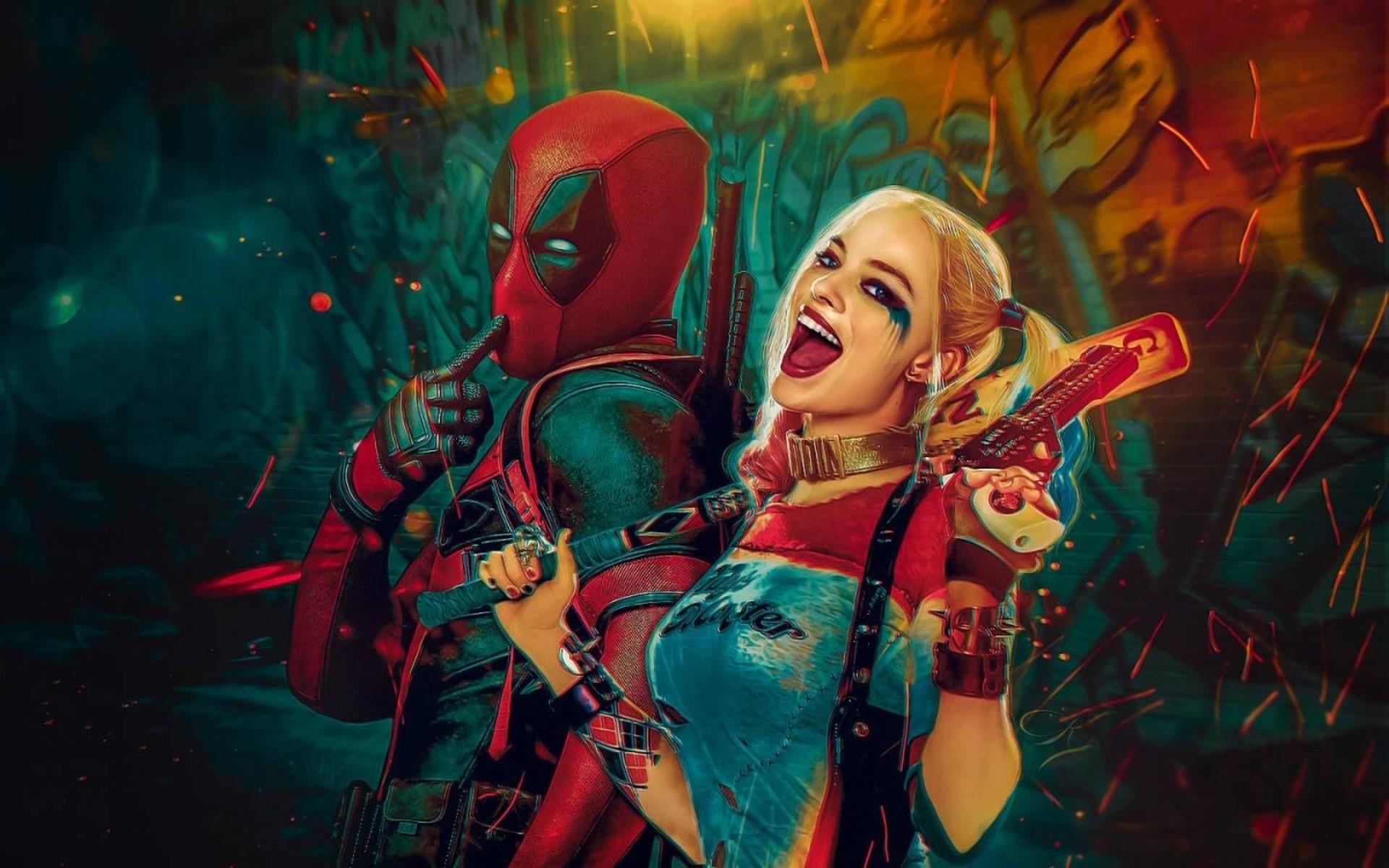General Harley Quinn Deadpool Marvel Comics DC Comics