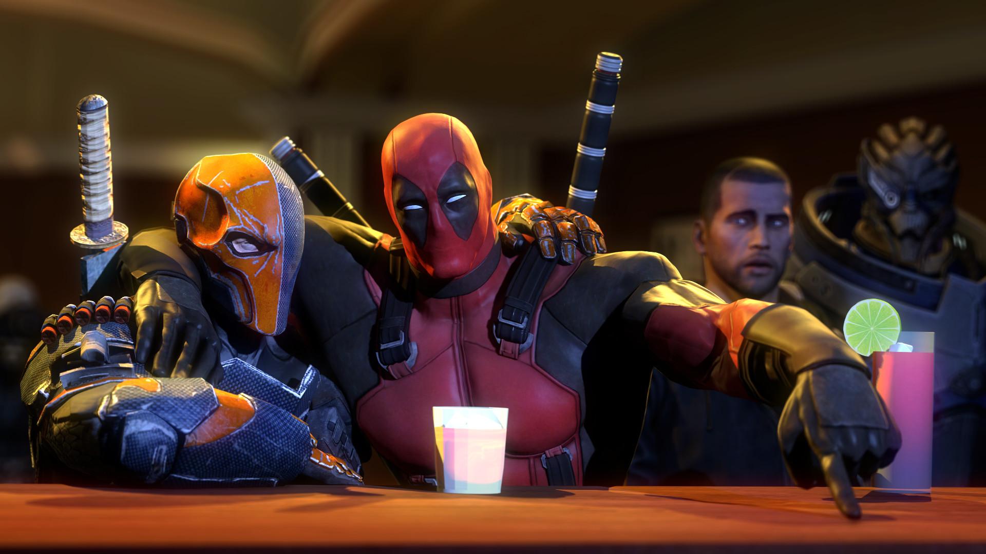 Deadpool, Mass Effect, John Shepard, Garrus Vakarian, Deathstroke, Video  Games,