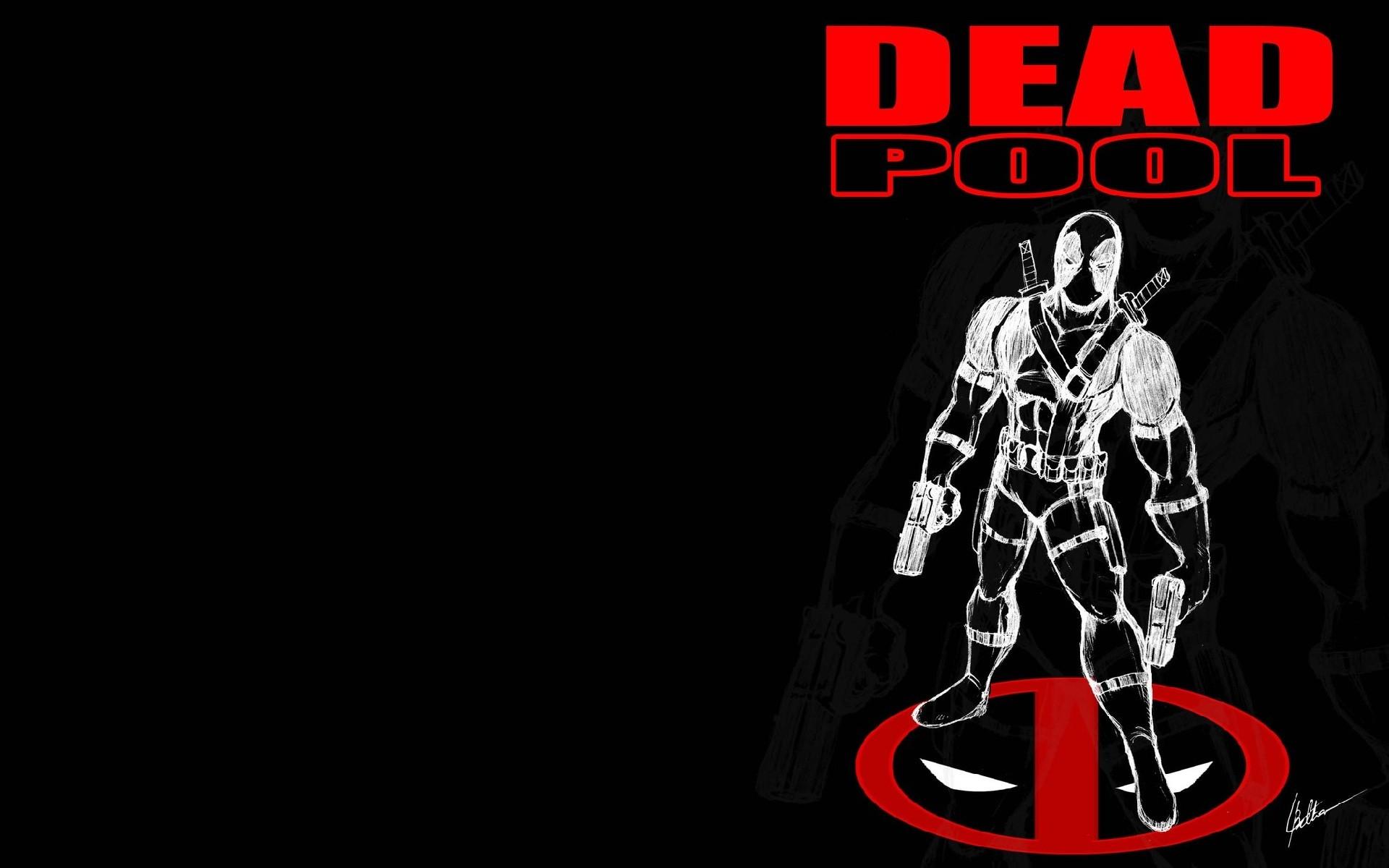 Black Deadpool Desktop Wallpaper HD.
