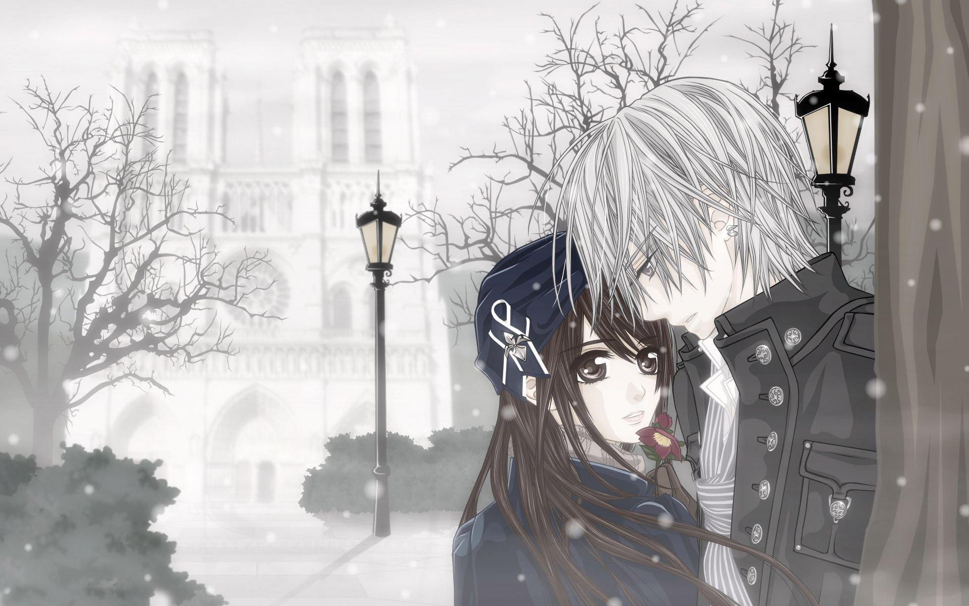 Yuki & Zero, yuki kuran, zero kiryu, vampire knight, anime .