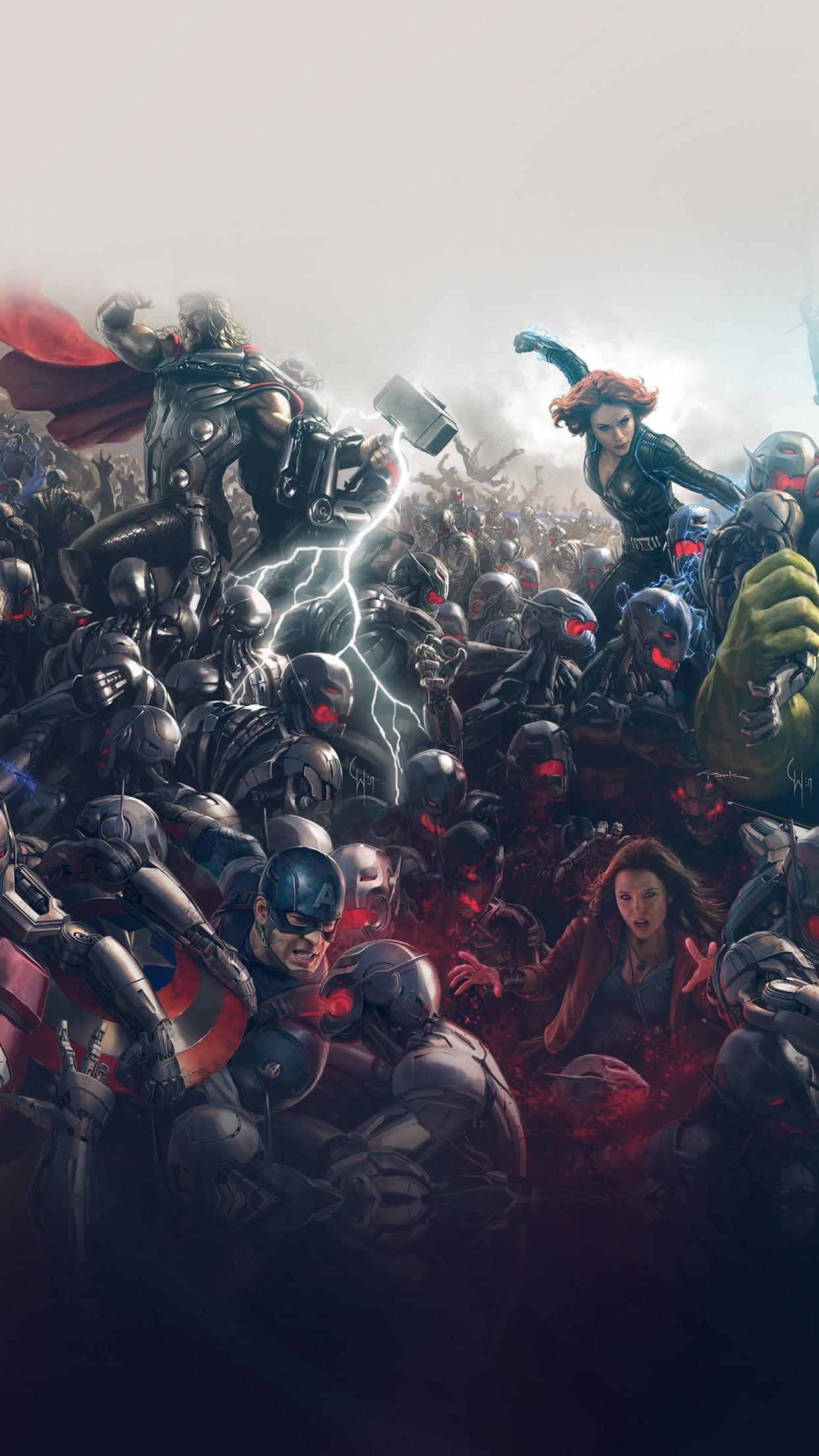 avengers marvel hero ultron flare art iPhone 7 wallpaper