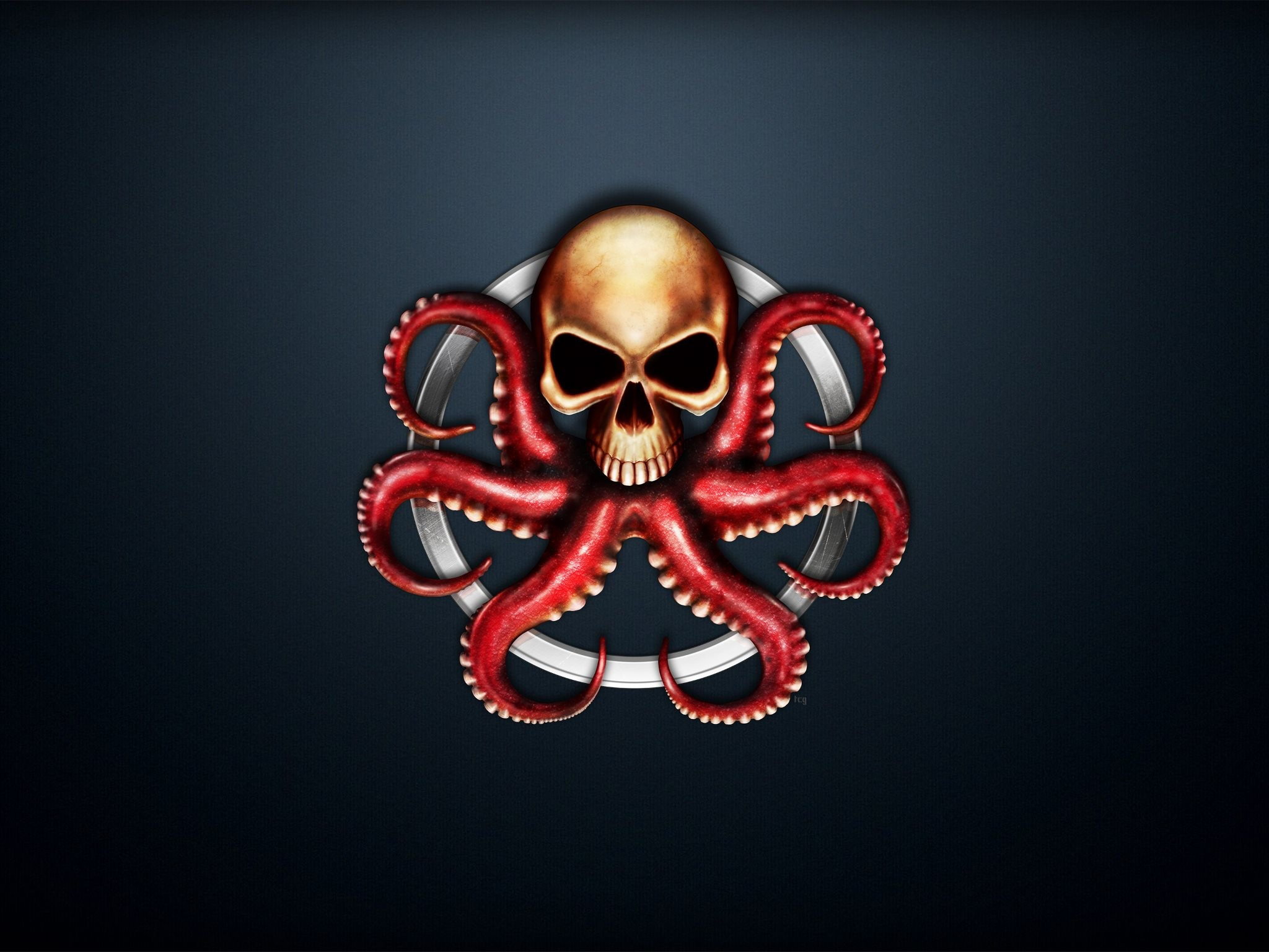 4K HD Wallpaper: Hydra Logo from Marvel Comics