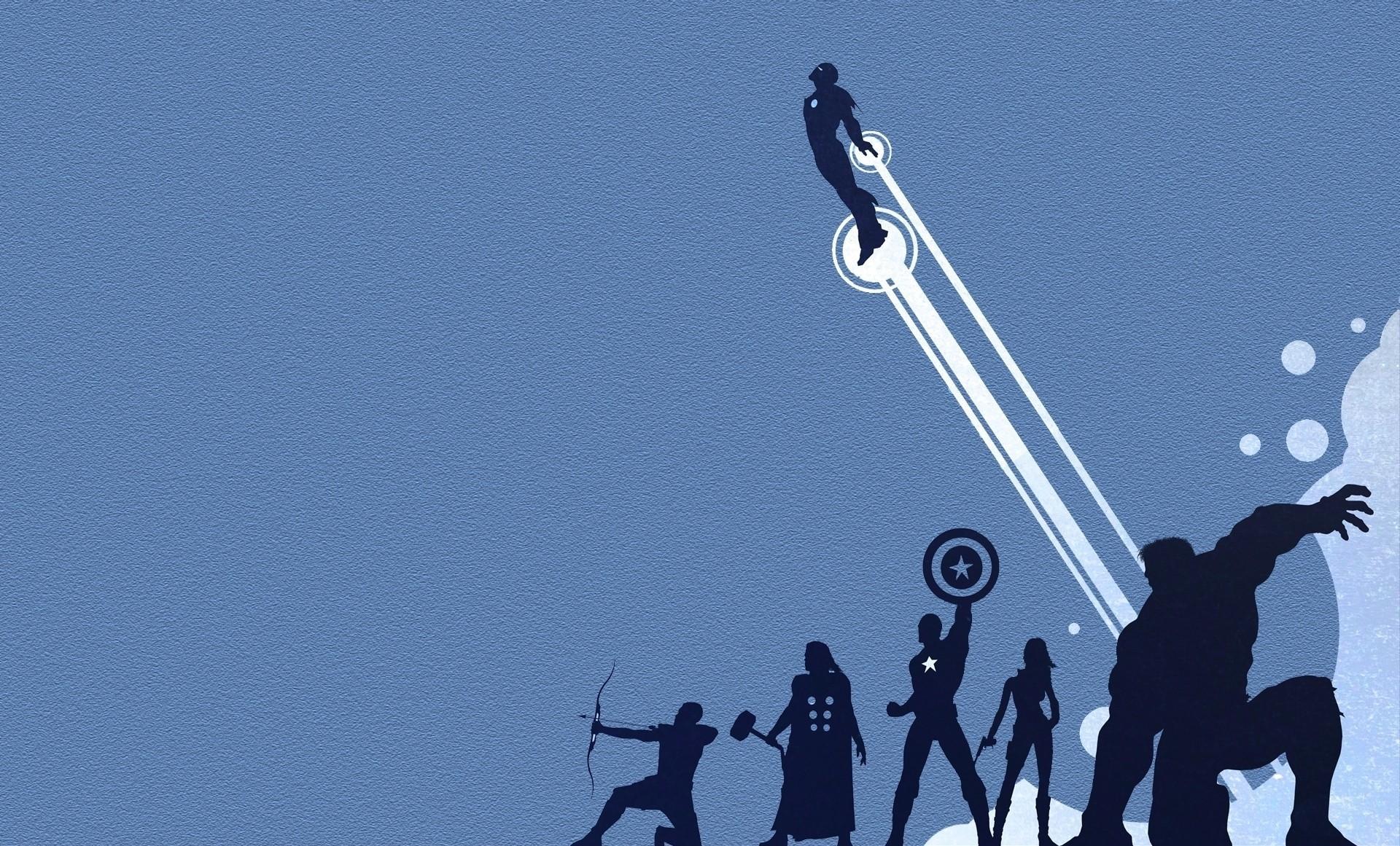 Marvel Minimalistic Artwork Superheroes