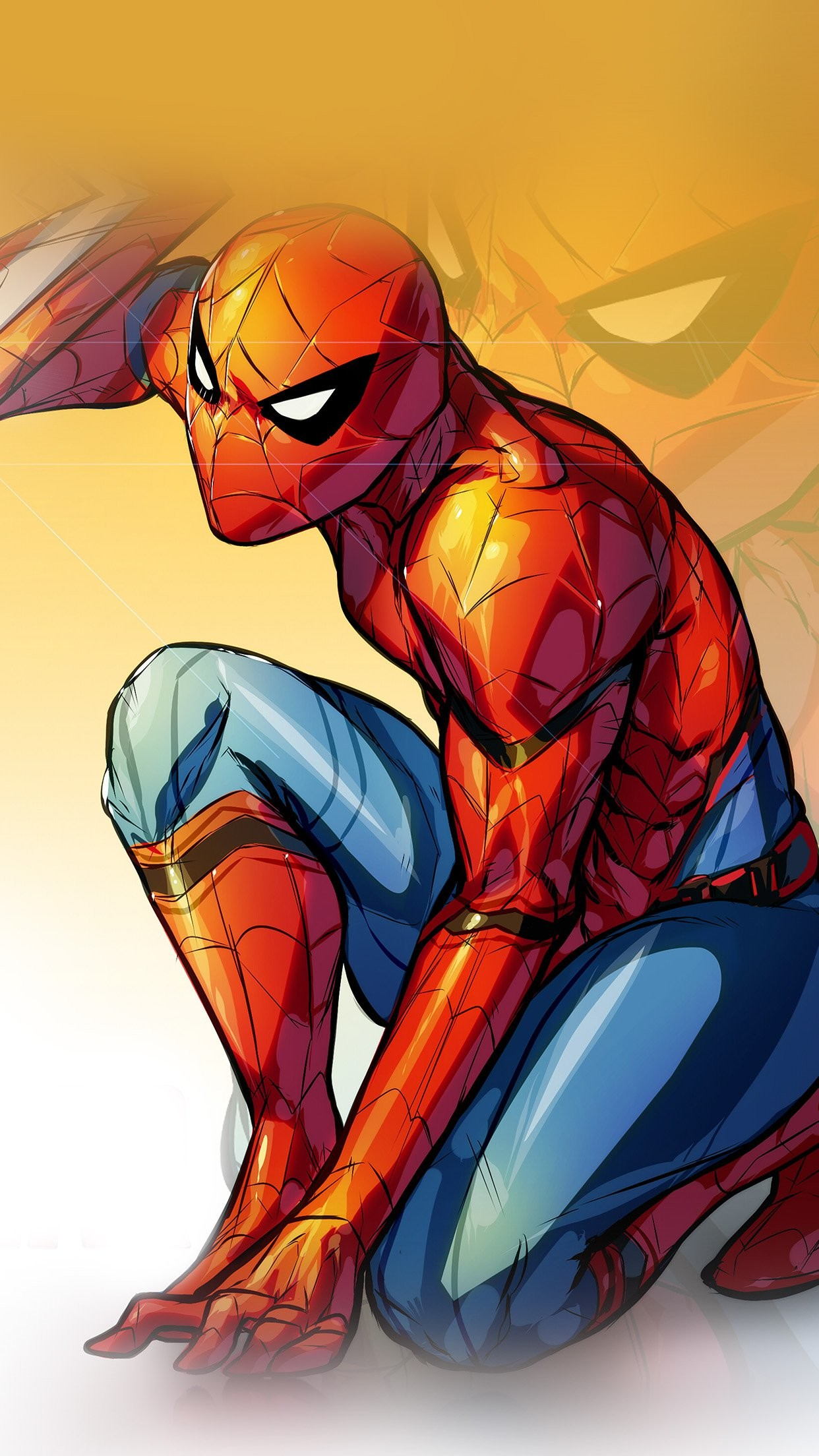 Spiderman Captain America Civilwar Art Hero iPhone 6 wallpaper