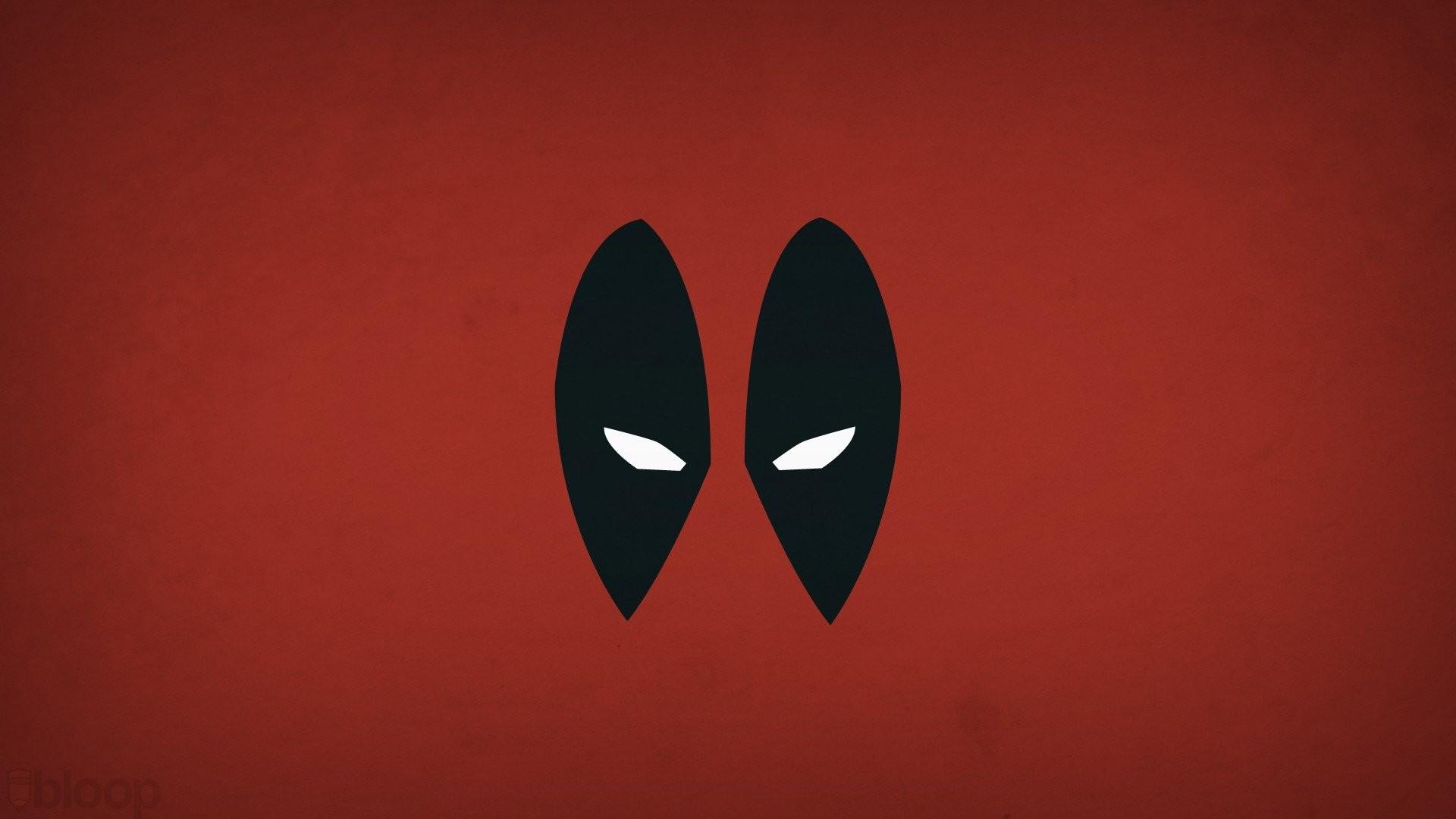 Blo0p Comics Deadpool Wade Wilson Marvel Minimalistic Superheroes