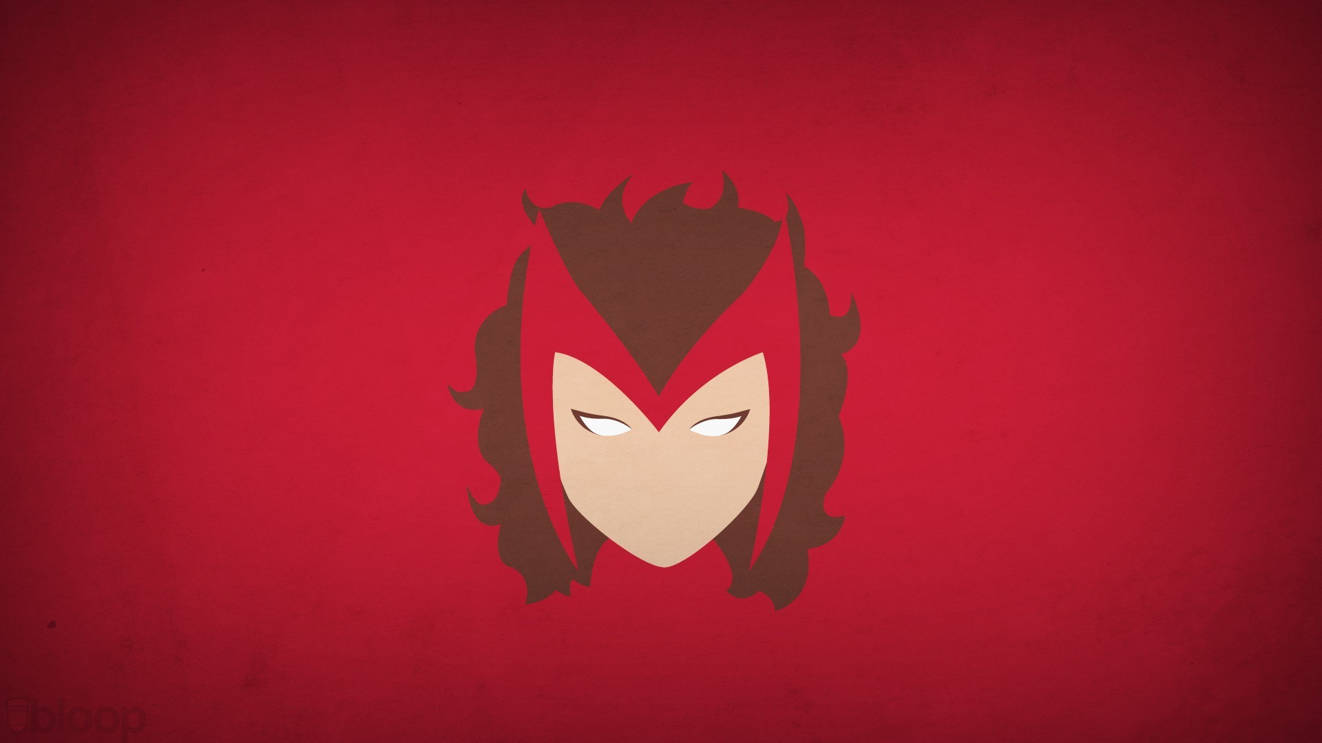 Blo0p Marvel Comics Minimalistic Red Background Scarlet Witch Superheroes