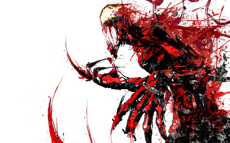 Carnage splatter art desktop background I made! (X-post r/Marvel and  r/ComicWalls) …