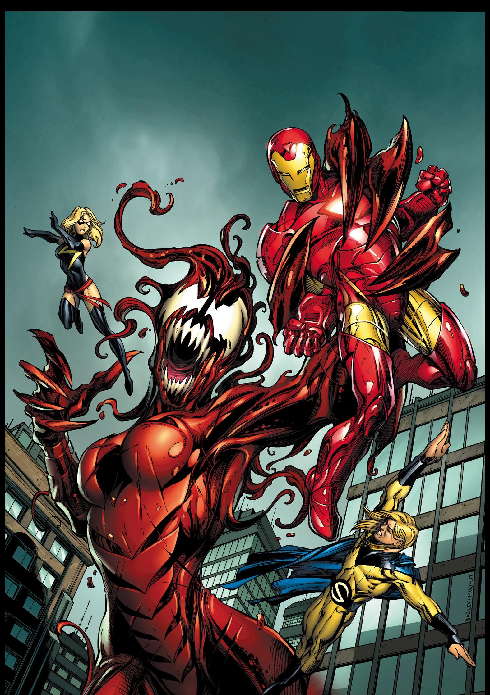 Venom Symbiote Virus (Janet van Dyne) vs Avengers by Mark Bagley