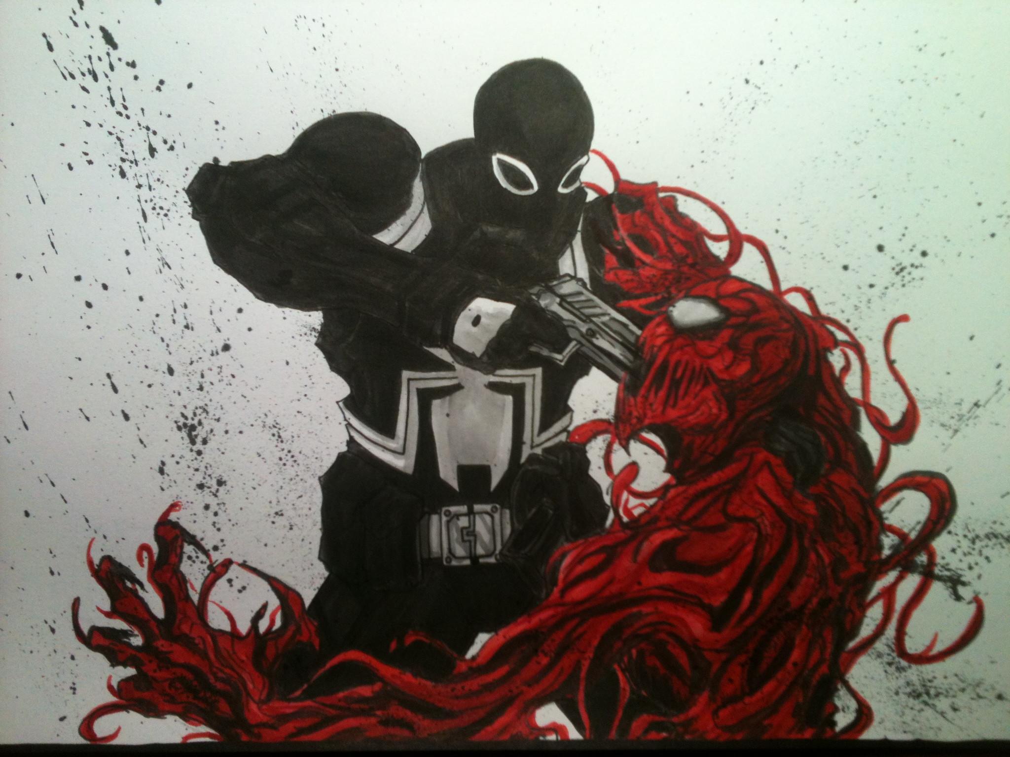 Carnage by LeeChandler Agent Venom vs. Carnage by LeeChandler