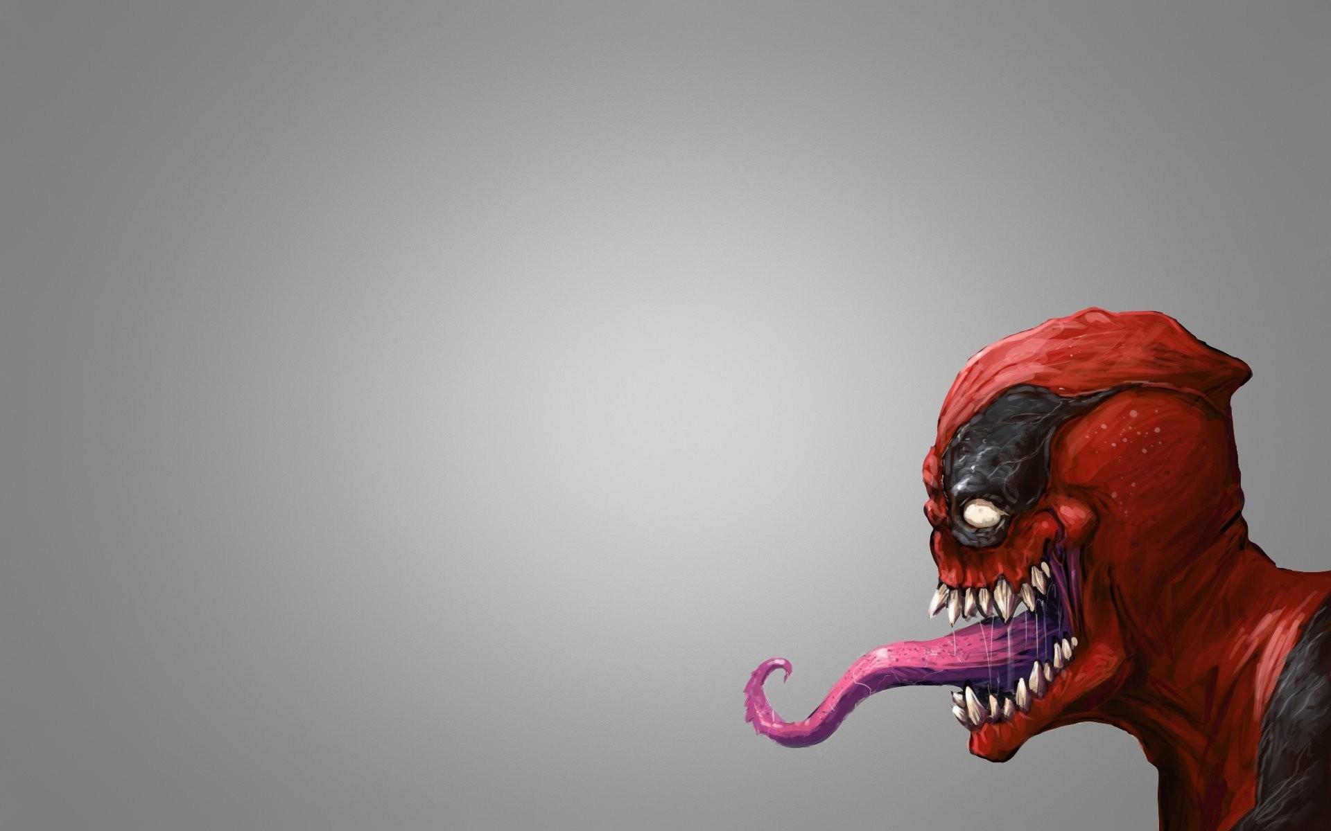 deadpool deadpool red mask english monster venom carnage carnage venom  comics spider-man spiderman