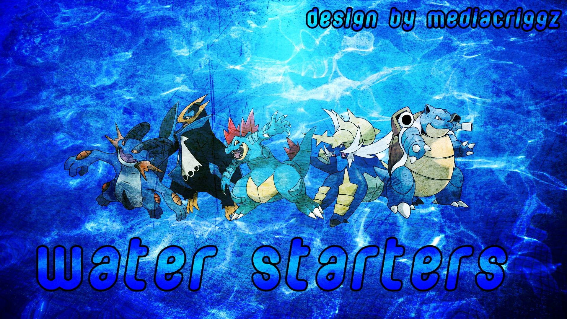 Pokemon Water Starters Wallpaper by MediaCriggz on DeviantArt