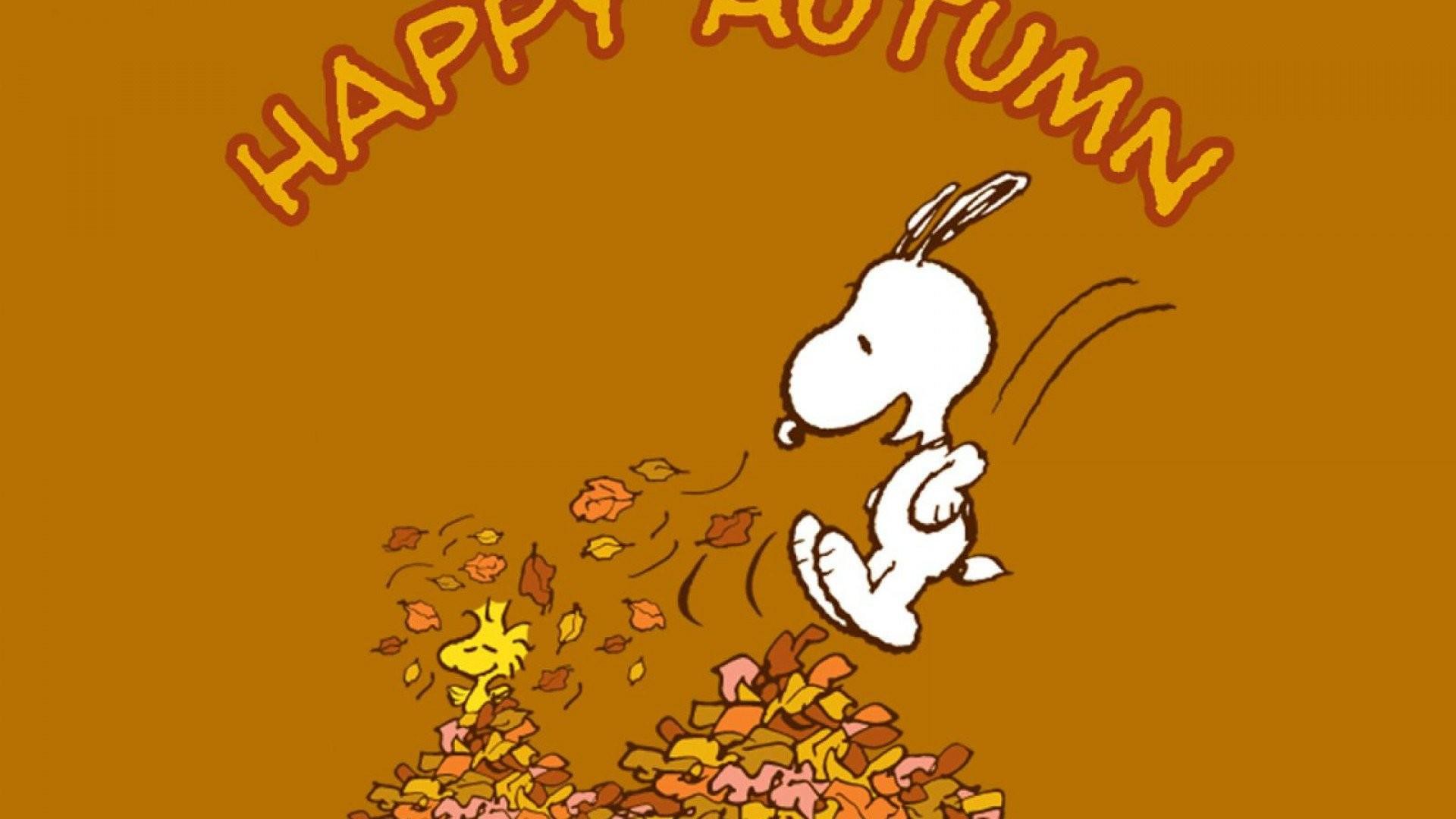 Snoopy Autumn