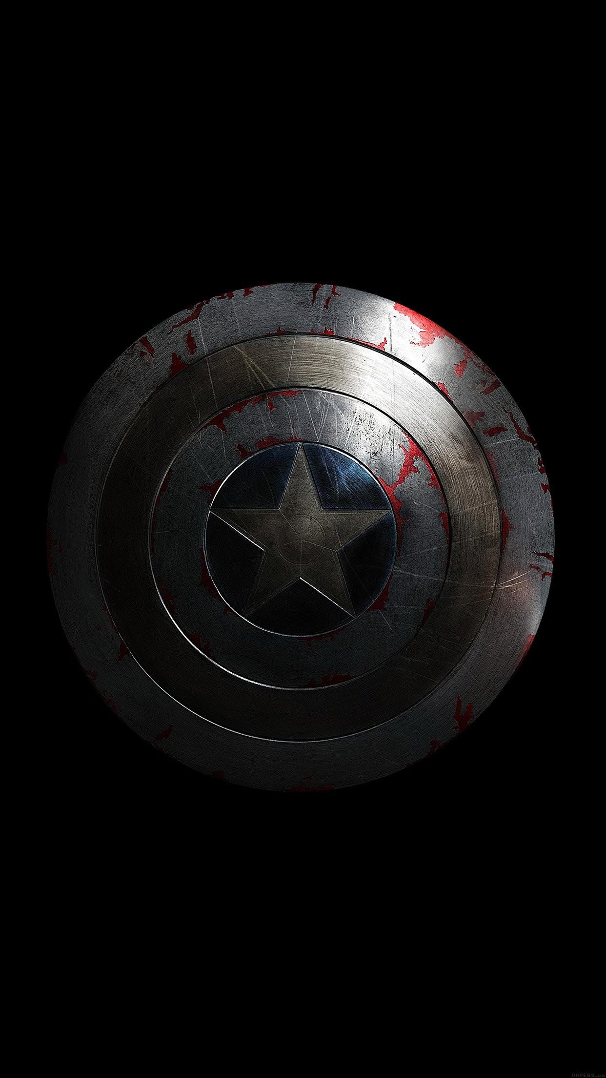 captain america avengers hero sheild small dark iPhone 7 plus wallpaper