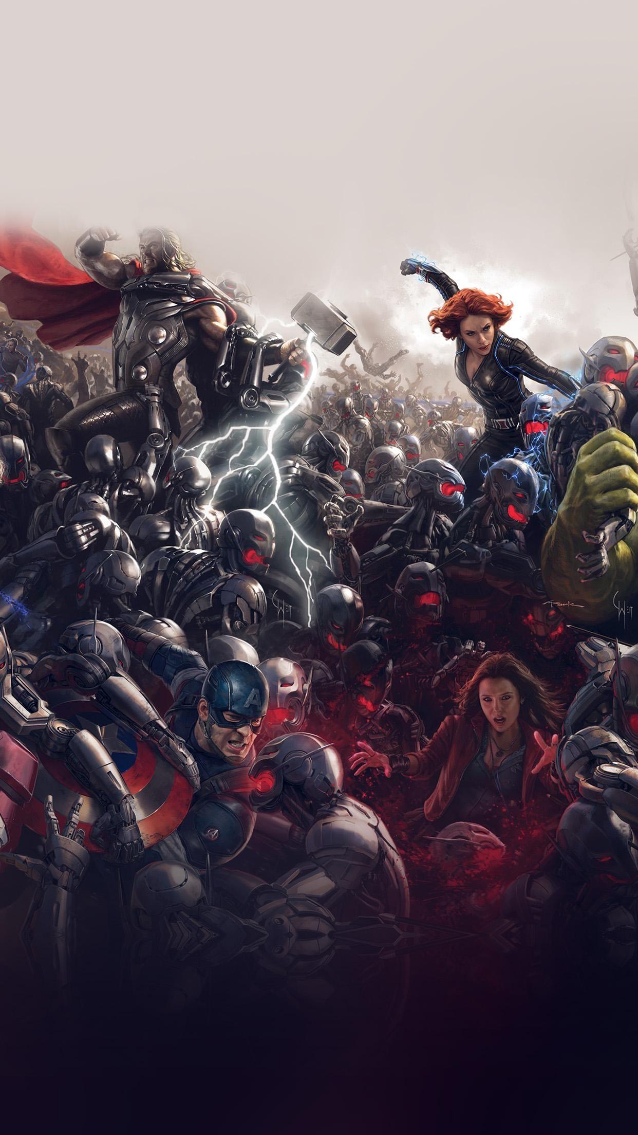 Avengers Marvel Hero Ultron Super Fight Art
