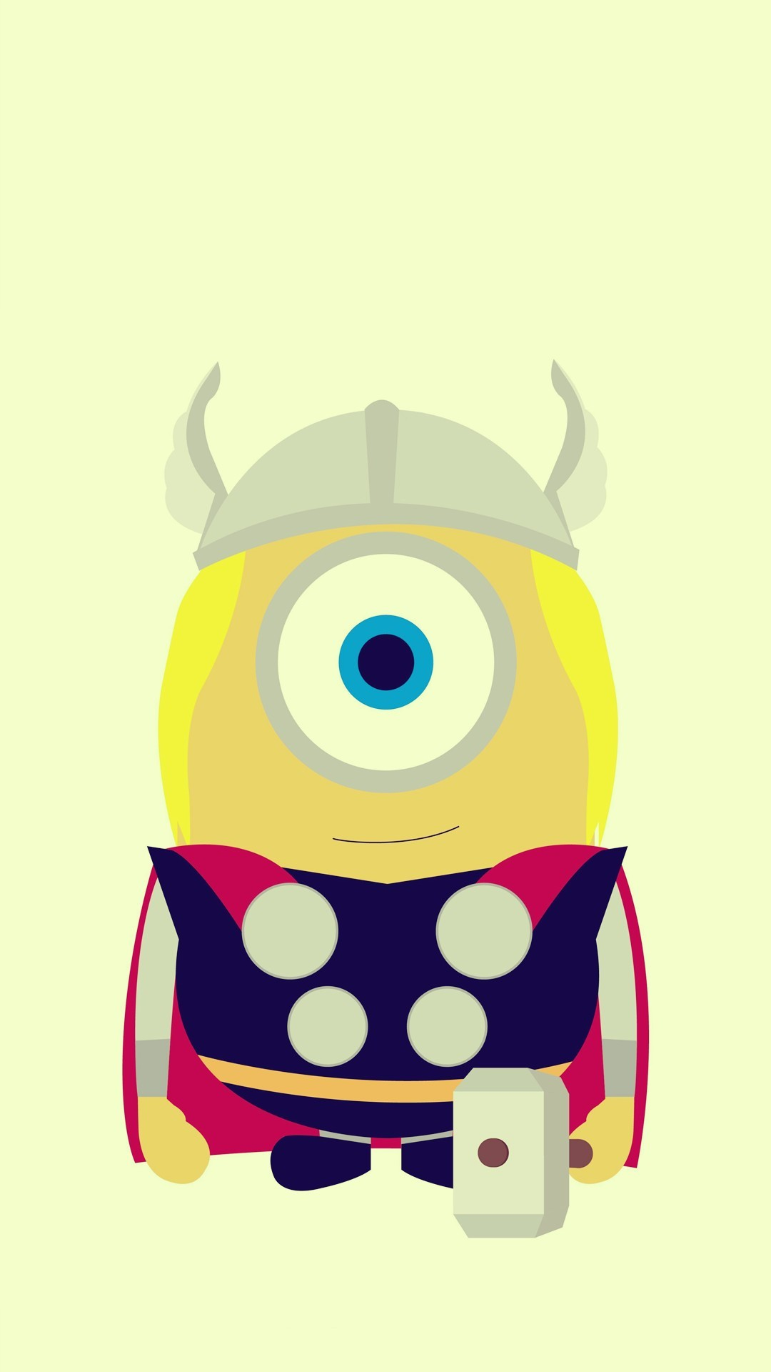 Funny Thor Minion Avengers iphone 6 plus wallpaper HD – 2014 Halloween,  Despicable Me #