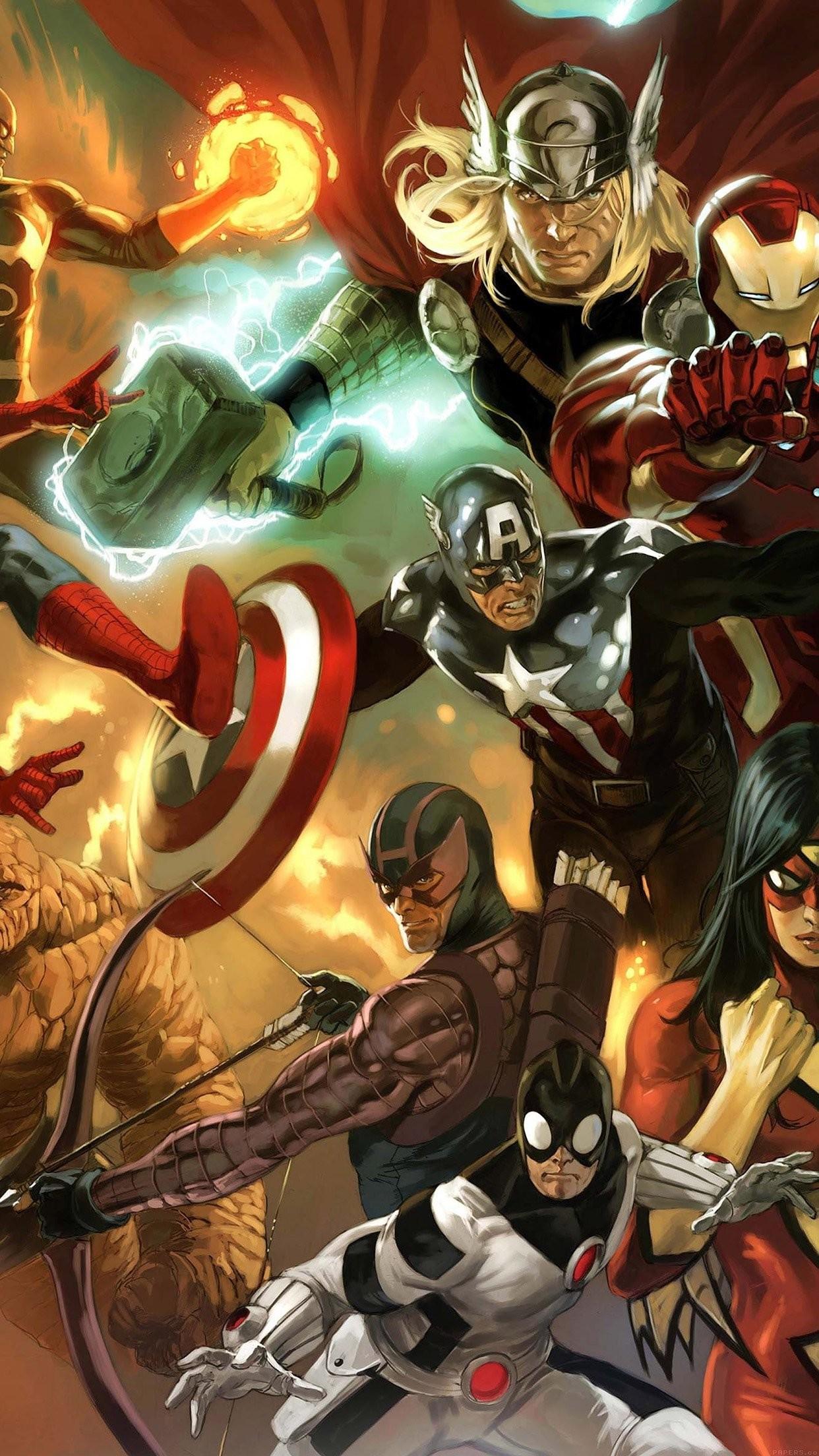 avengers liiust comics marvel art hero iPhone 7 plus wallpaper