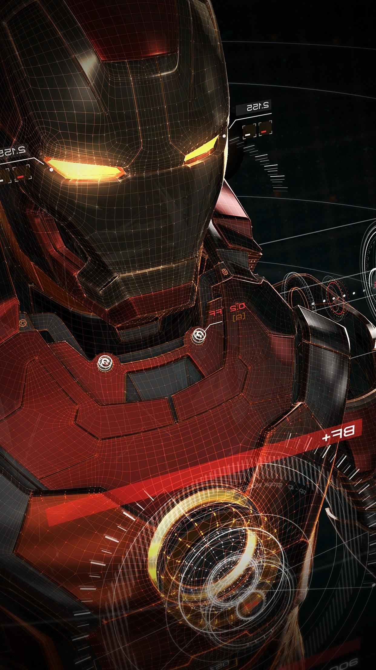 ironman 3d red game avengers art illustration hero vignette iPhone 7 plus  wallpaper