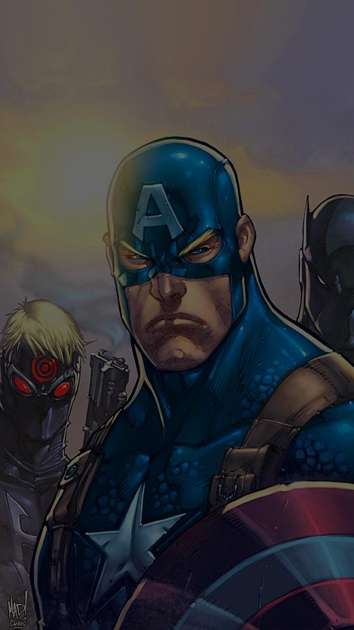 comics avengers illust art hero marvels dark iPhone 7 wallpaper