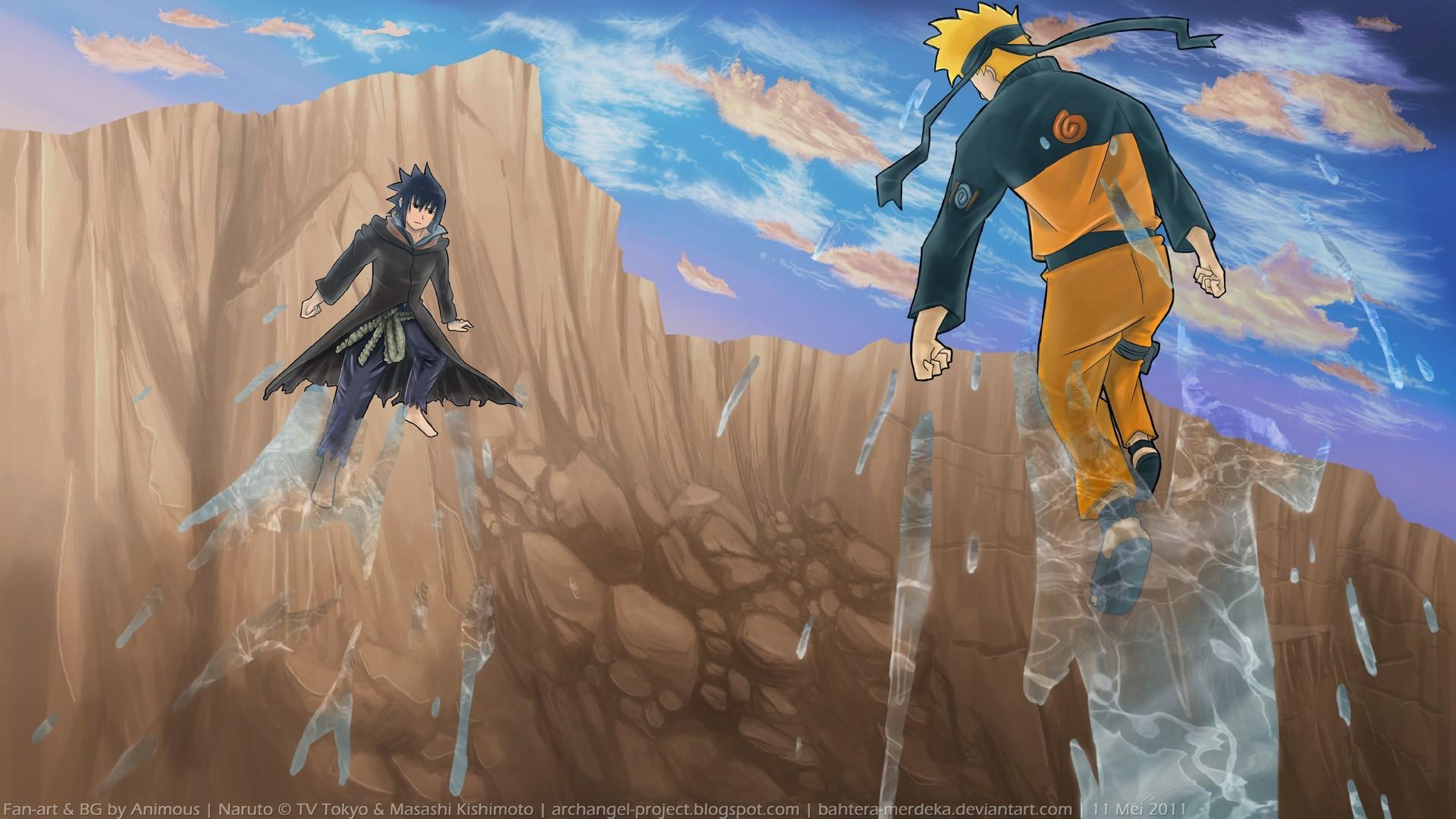 Naruto Sasuke Shippuden Art HD Wallpaper