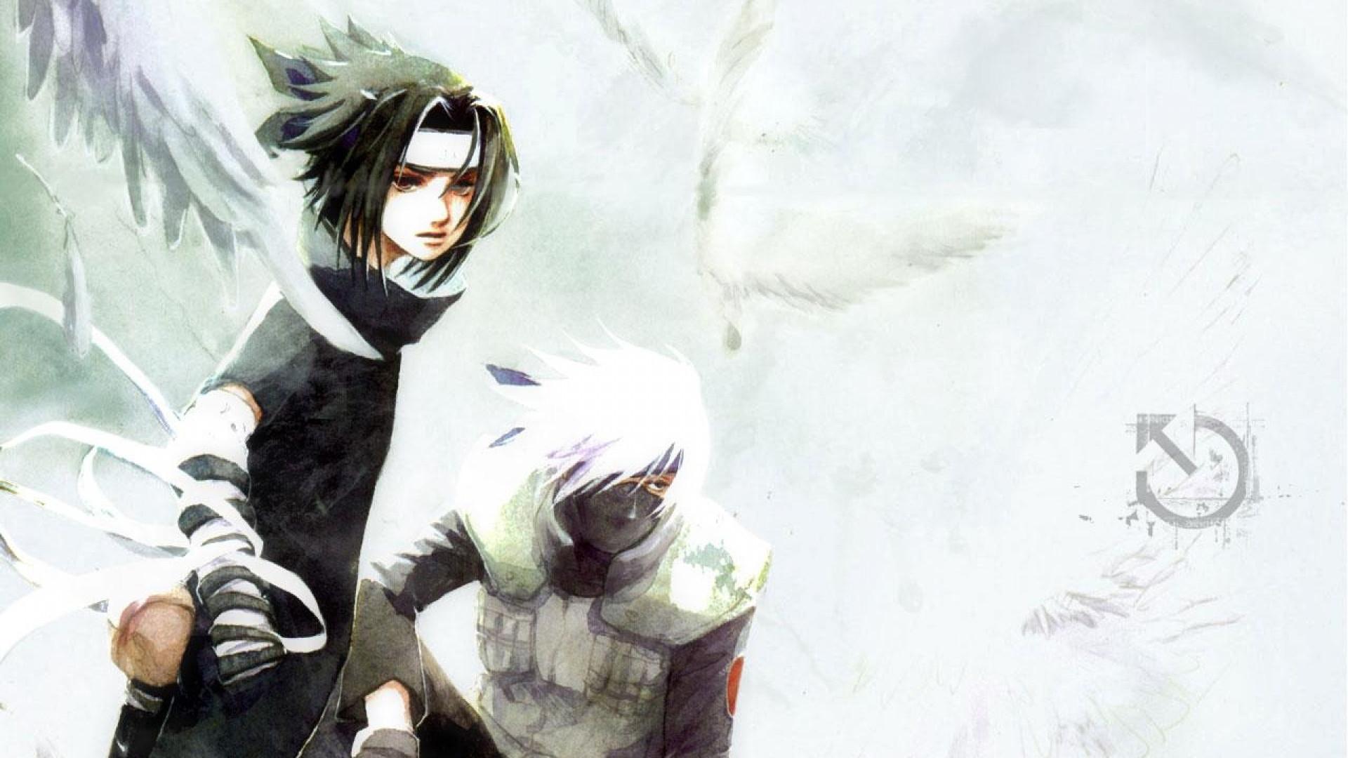 sasuke uchiha young kakashi hatake full hd wallpaper 1080p