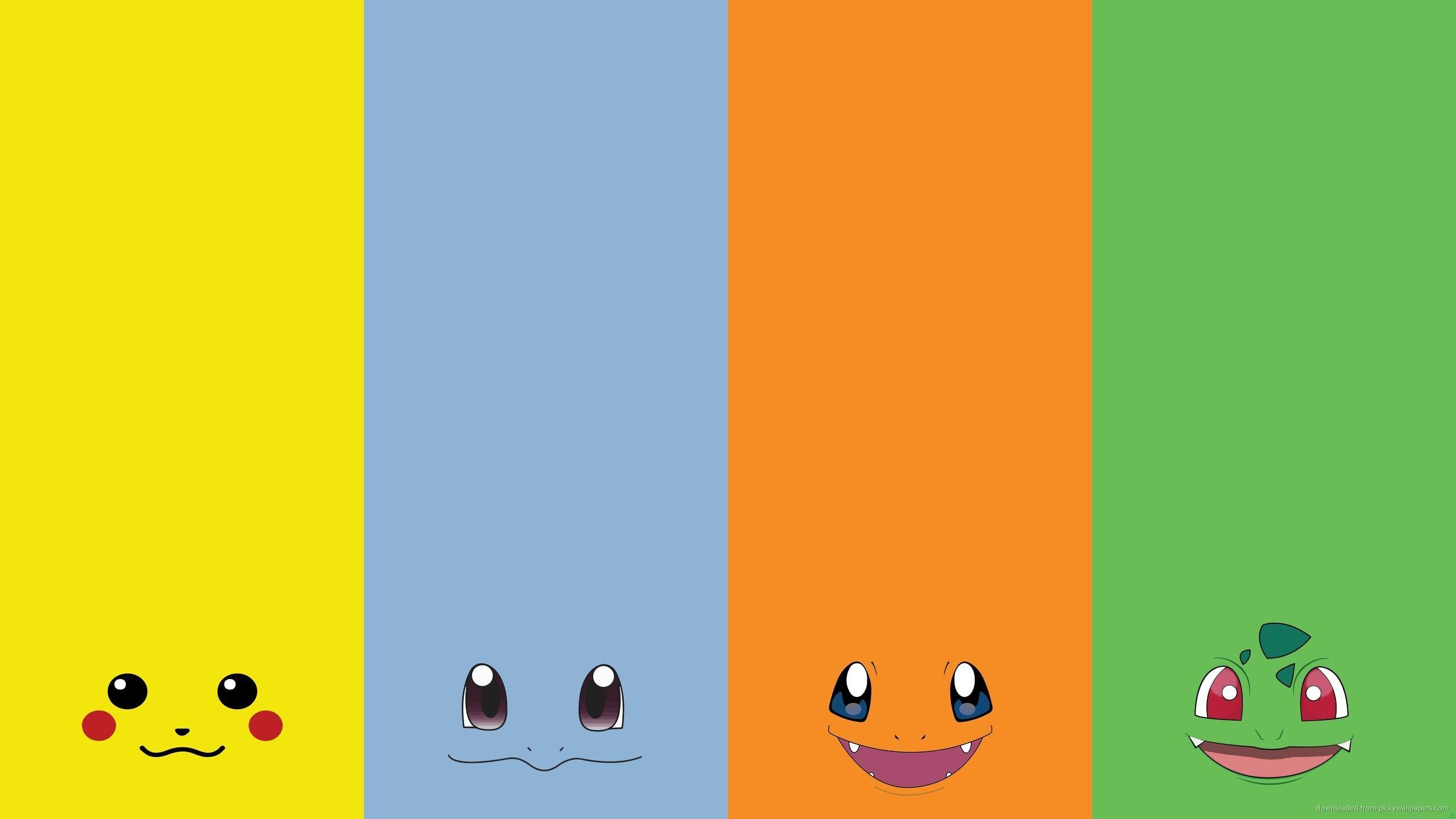 Download Four Pokemon Faces Wallpaper