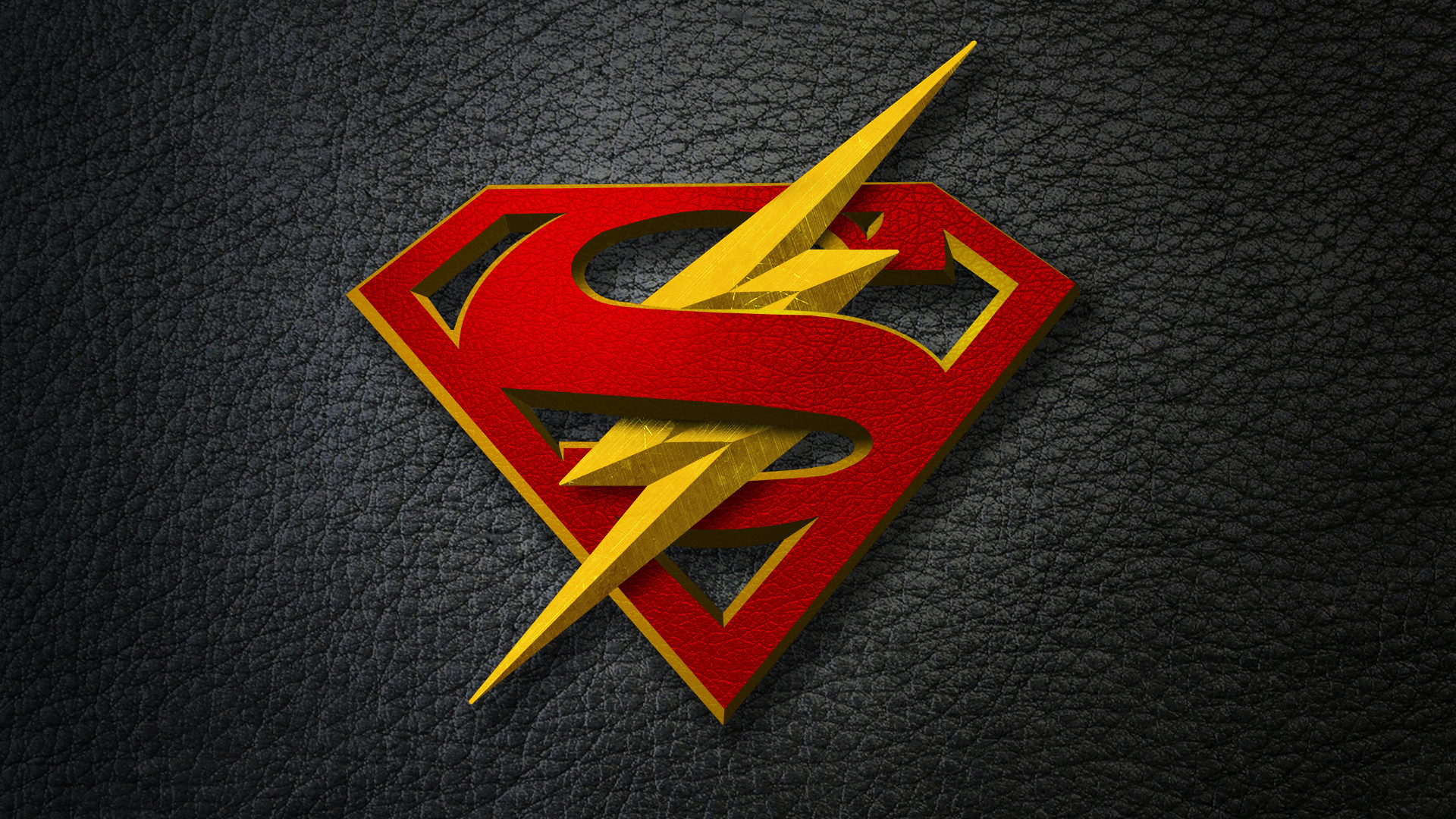 I made a wallpaper for the Flash/Supergirl crossover …
