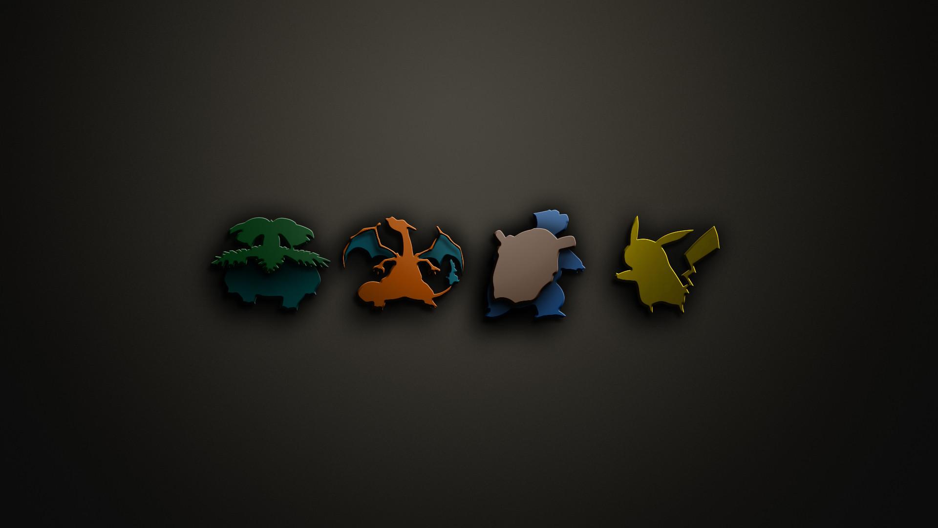 Cool 3-D Starter Pokemon Wallpaper
