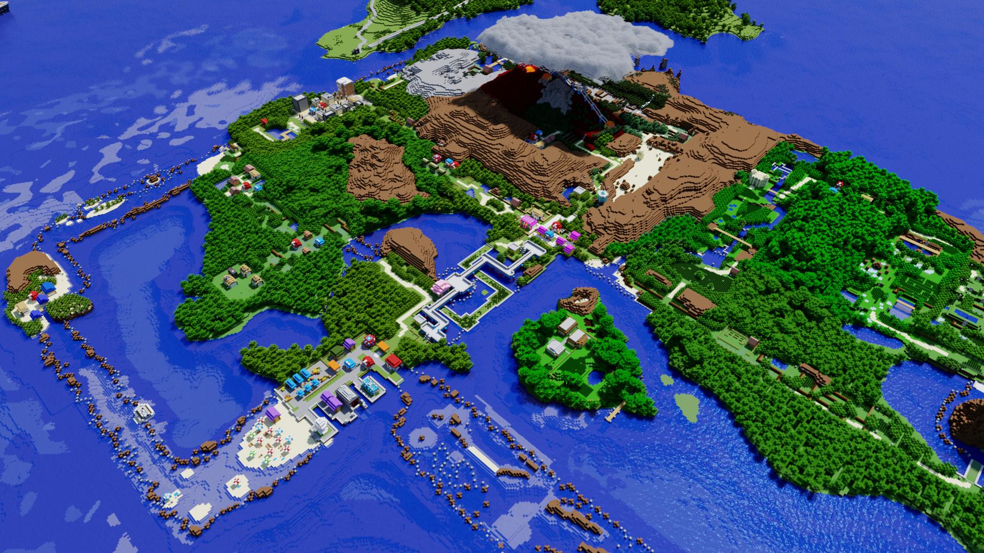 Minecraft Pokemon Hoenn Region Wallpaper