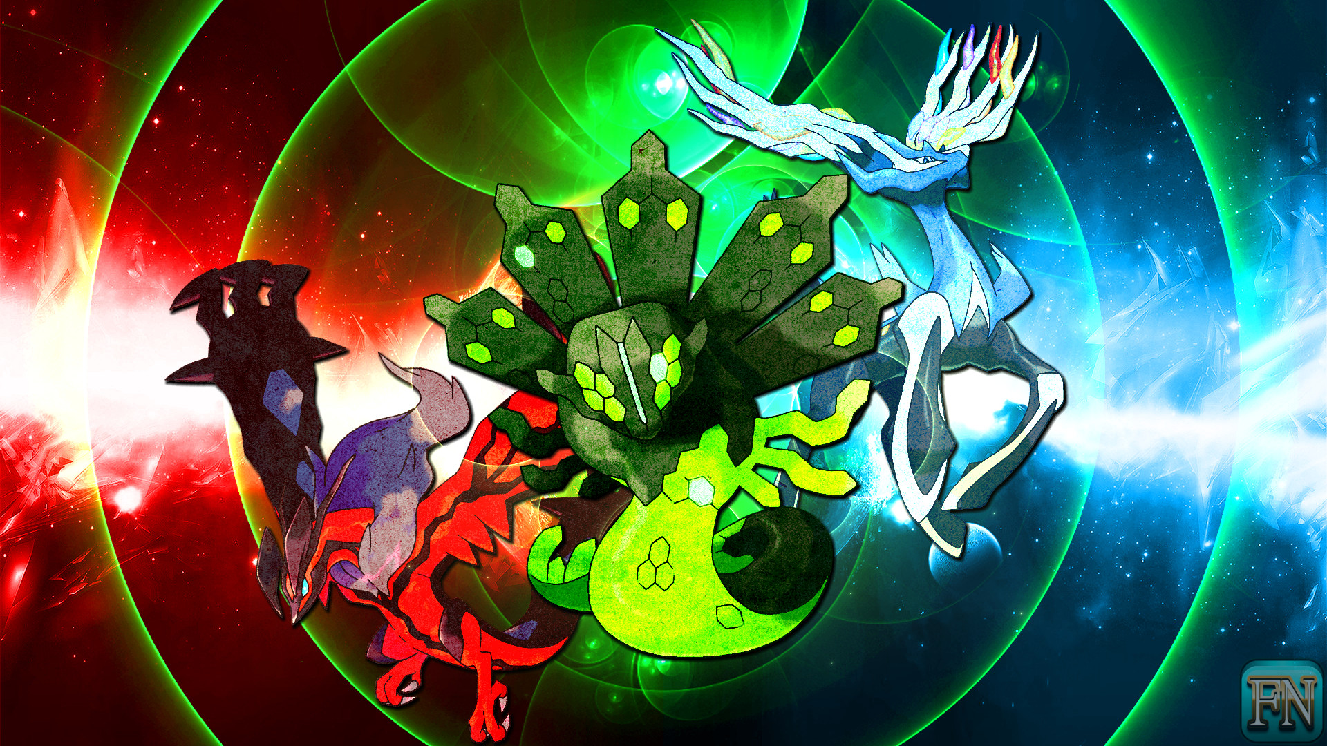 … Pokemon Wallpaper: Xerneas Yveltal and Zygarde by FRUITYNITE