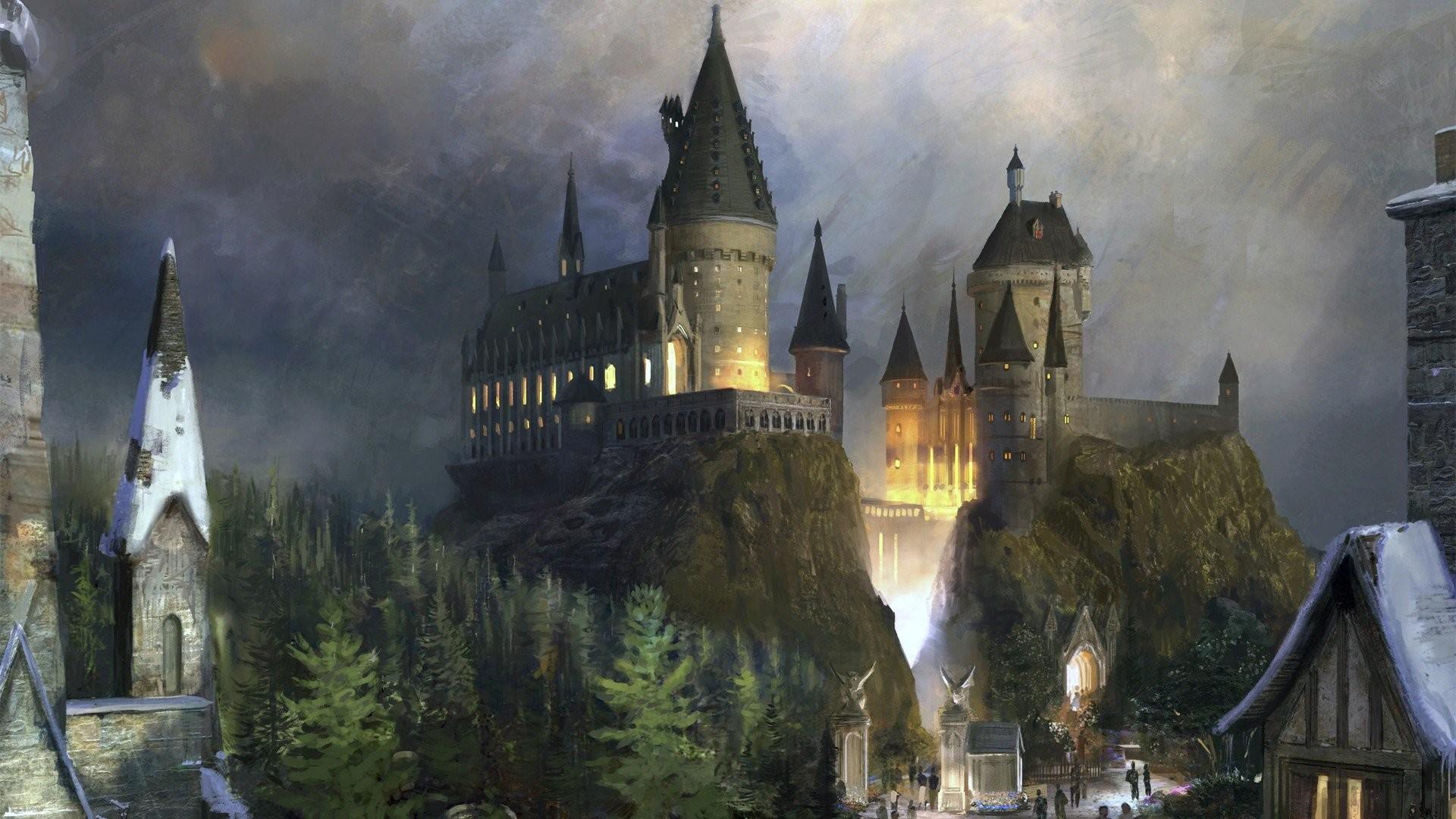 Harry Potter artwork Hogwarts wallpaper