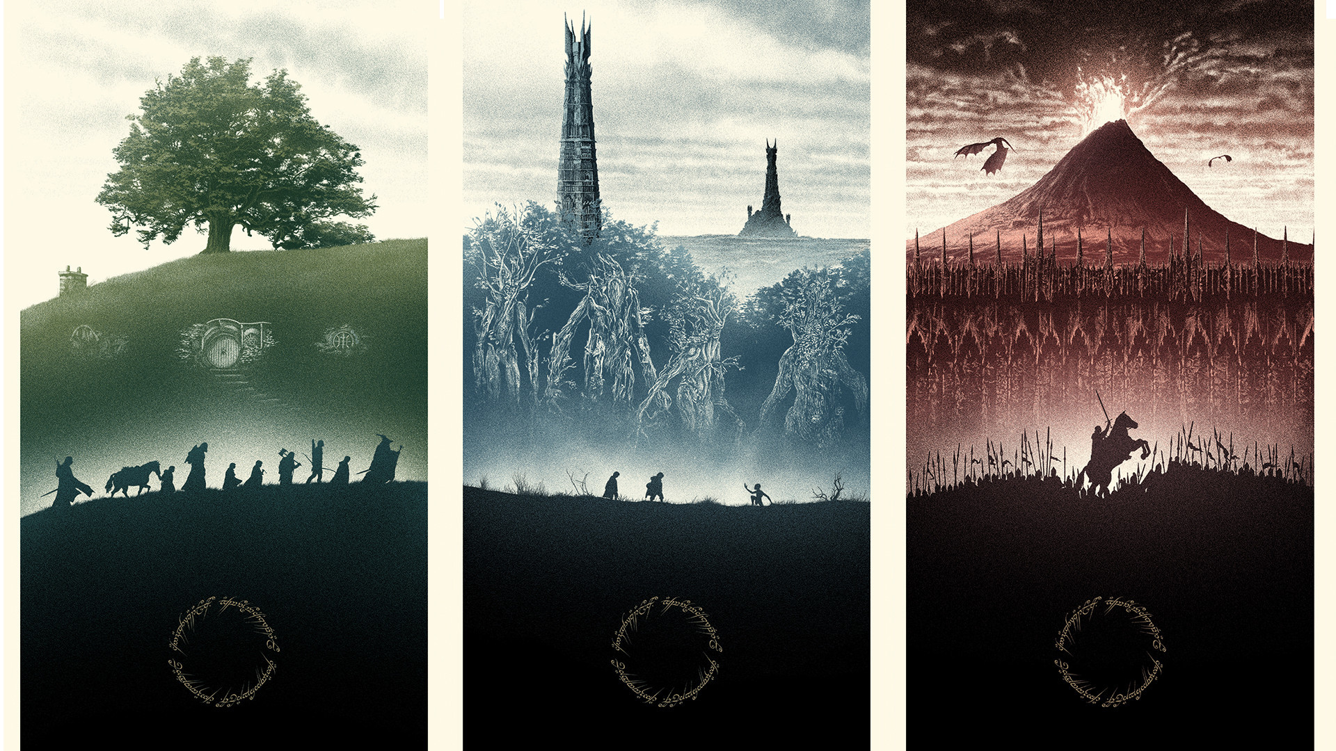 I love this Lord of the Rings wallpaper [1920×1080] …
