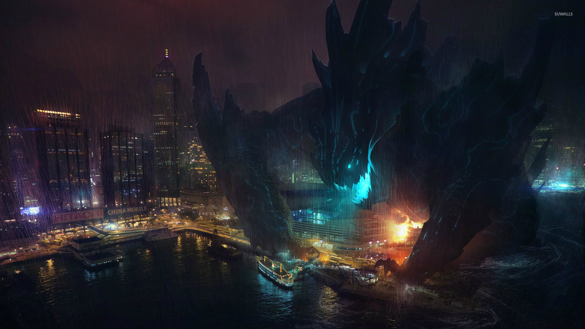 Kaiju in Pacific Rim wallpaper jpg