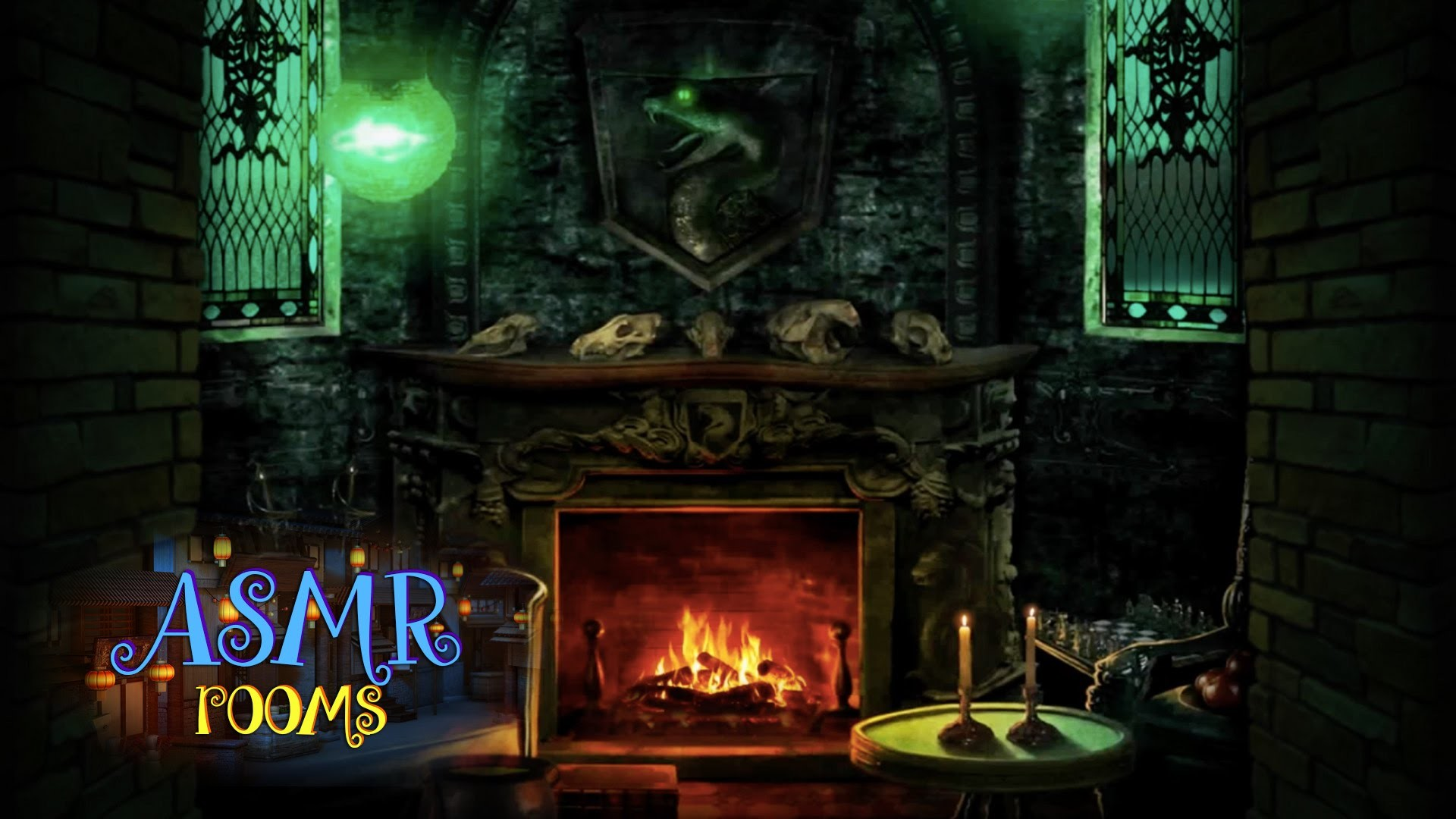Harry Potter ASMR – Slytherin Common Room – POV HD ambient sound white  noise – Cinemagraphs – YouTube