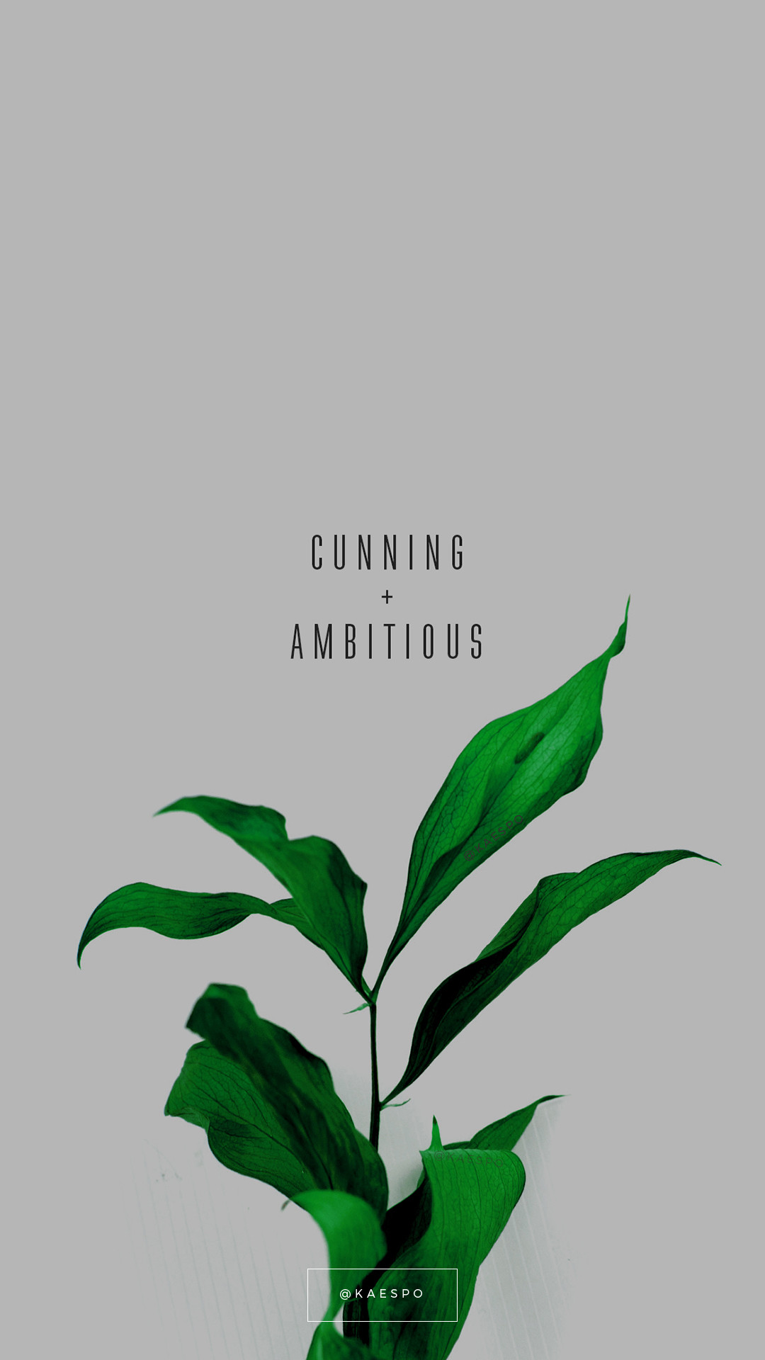 Cunning And Ambitious Slytherin Quote on Green Floral Background by kaespo