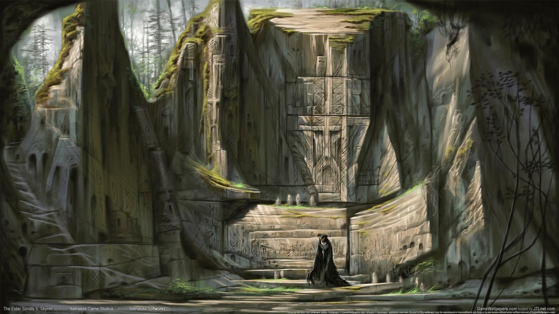 widescreen backgrounds the elder scrolls v skyrim