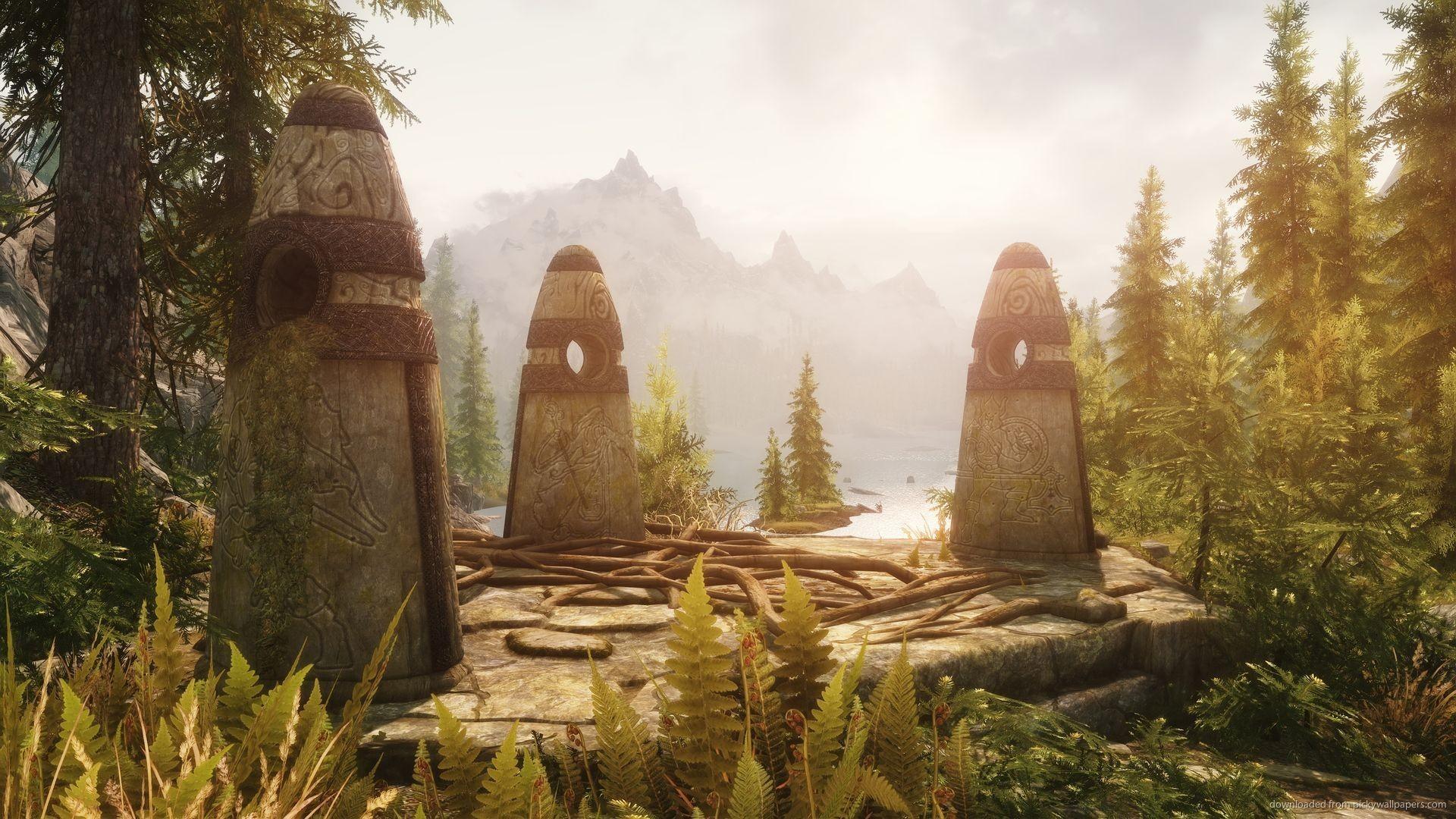 Download Skyrim Three Stones Wallpaper