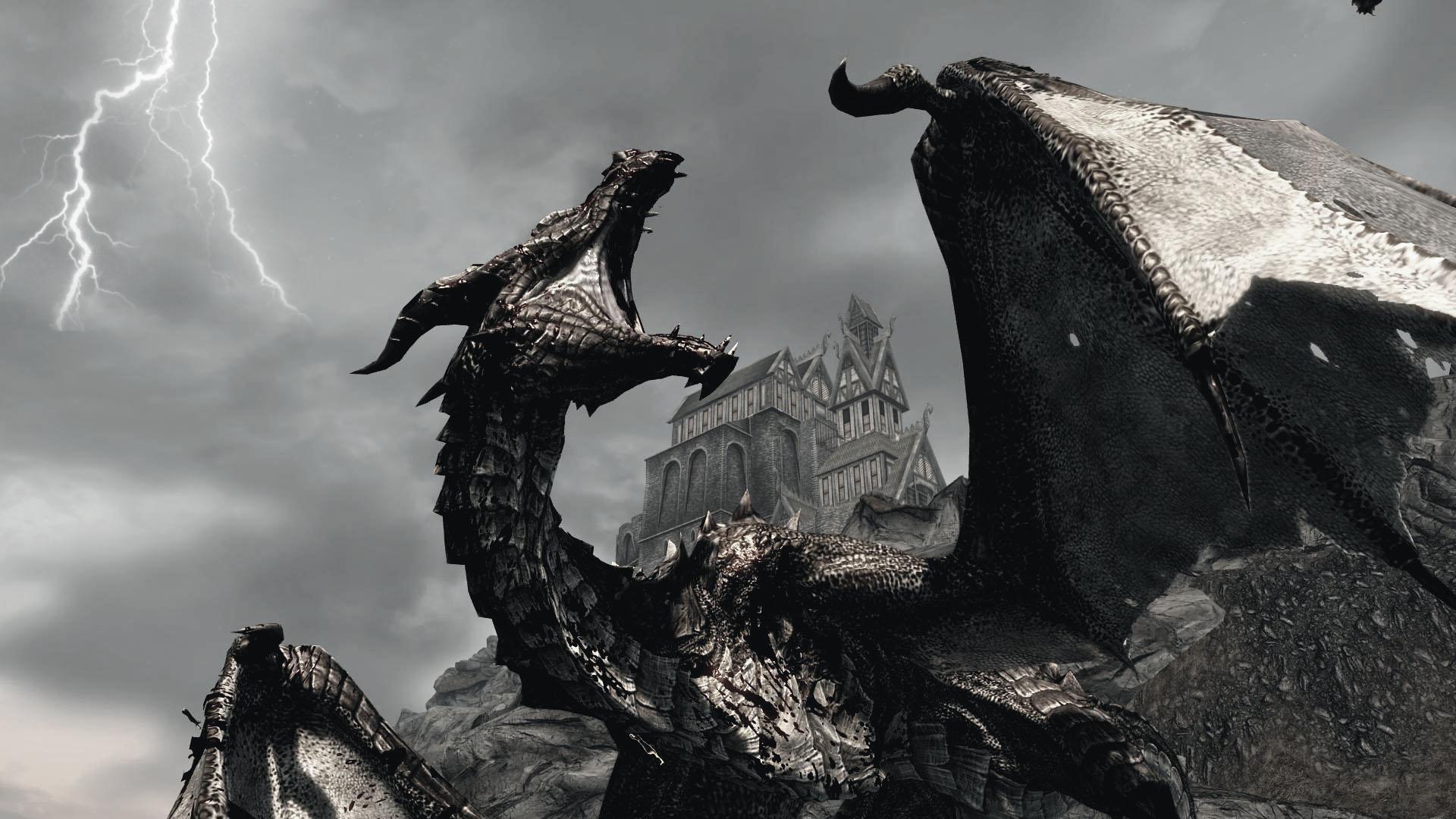 Skyrim-hd-wallpaper-dragon-1
