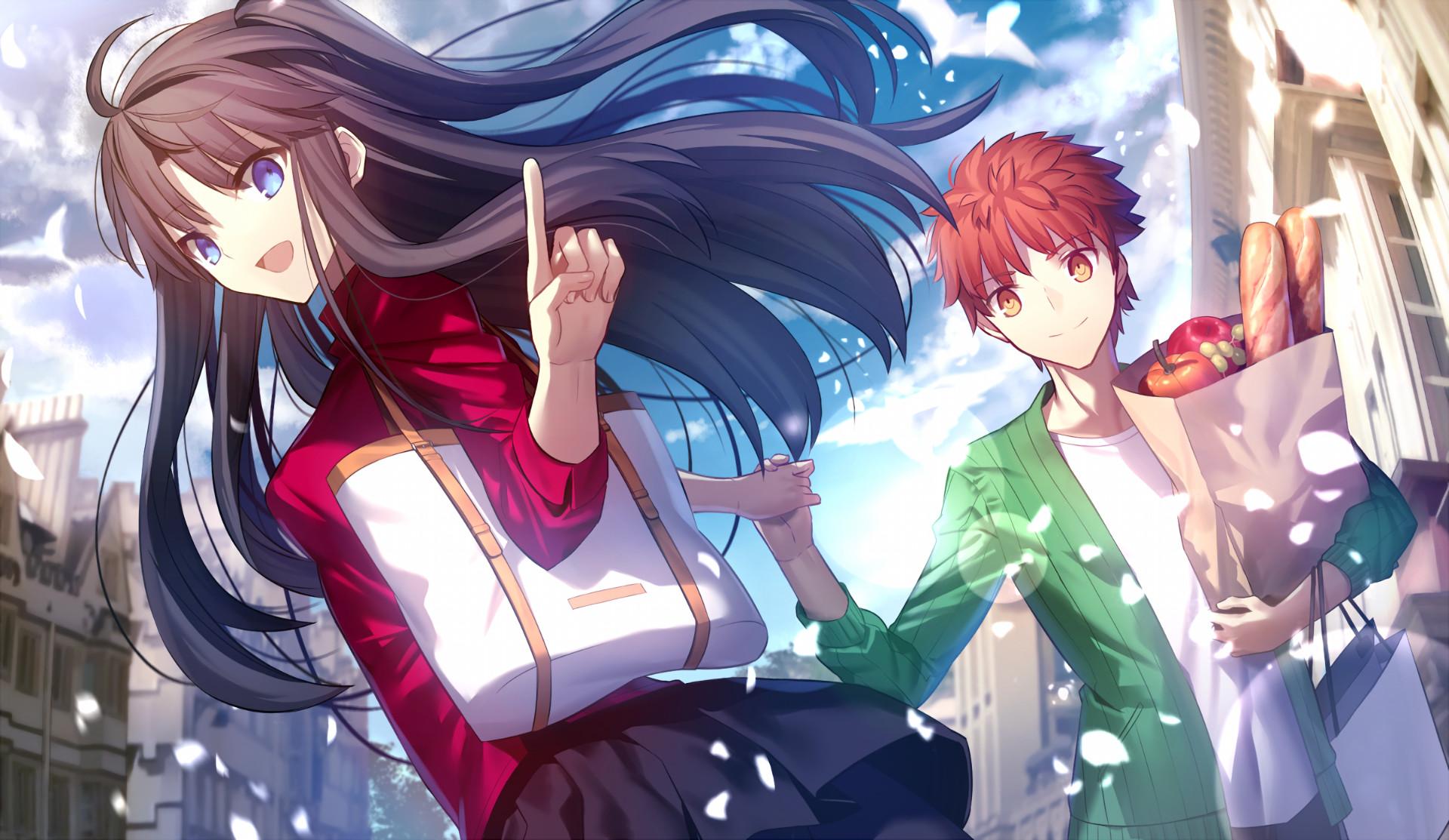 Anime – Fate/Stay Night: Unlimited Blade Works Shirou Emiya Rin Tohsaka  Wallpaper