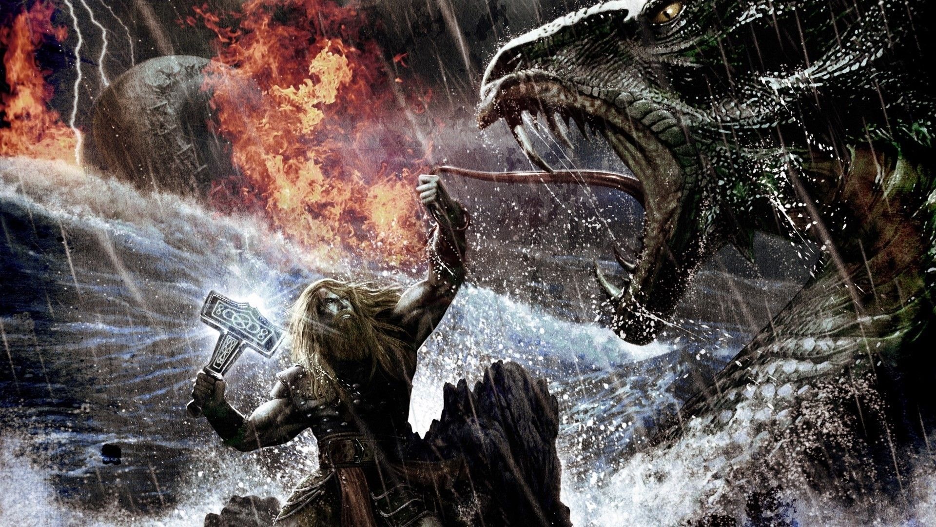 Viking kills the dragon wallpapers and images – wallpapers, pictures .
