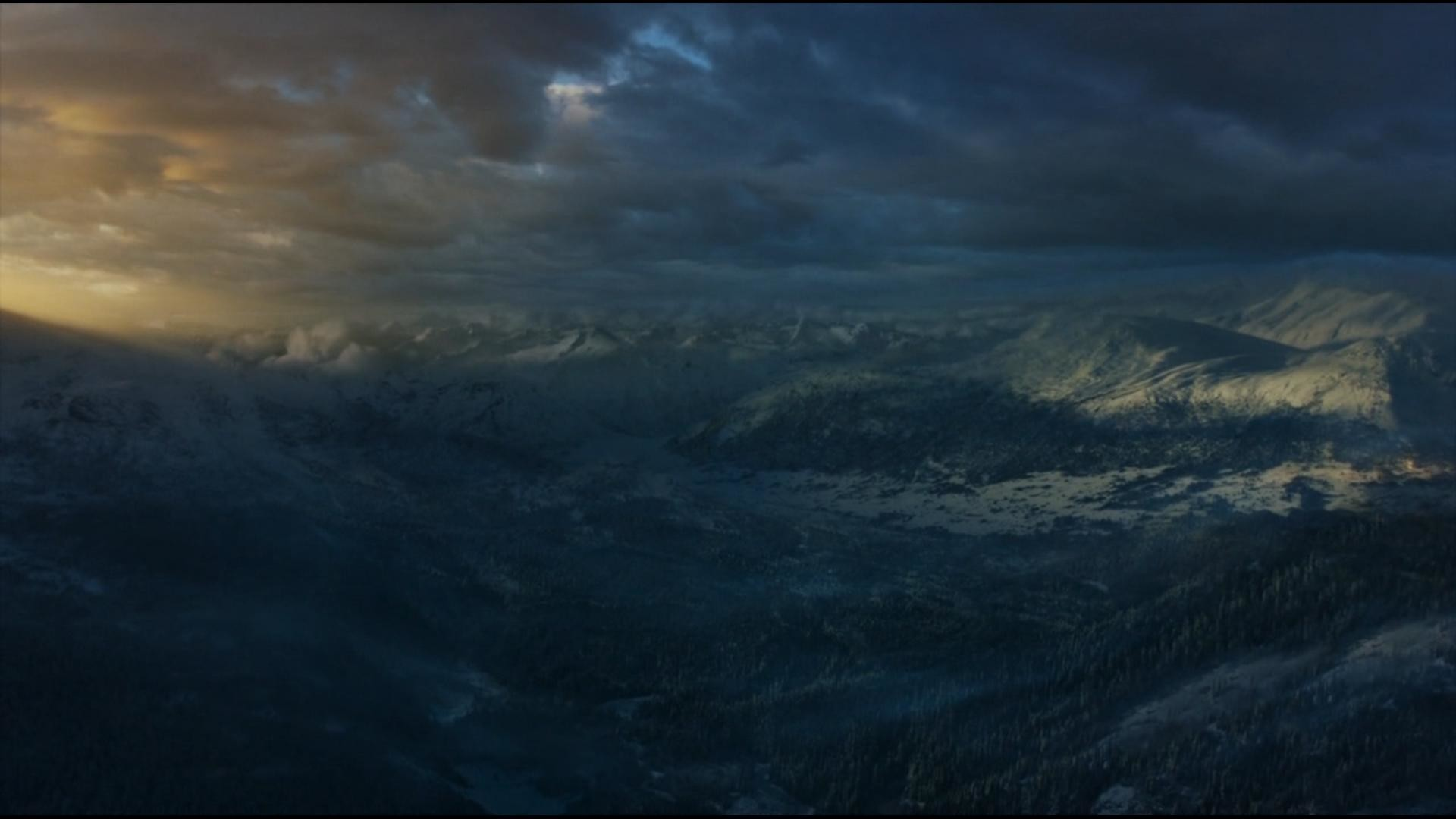Looking North over the Wall from Game of Thrones Season 3, Episode 6 .