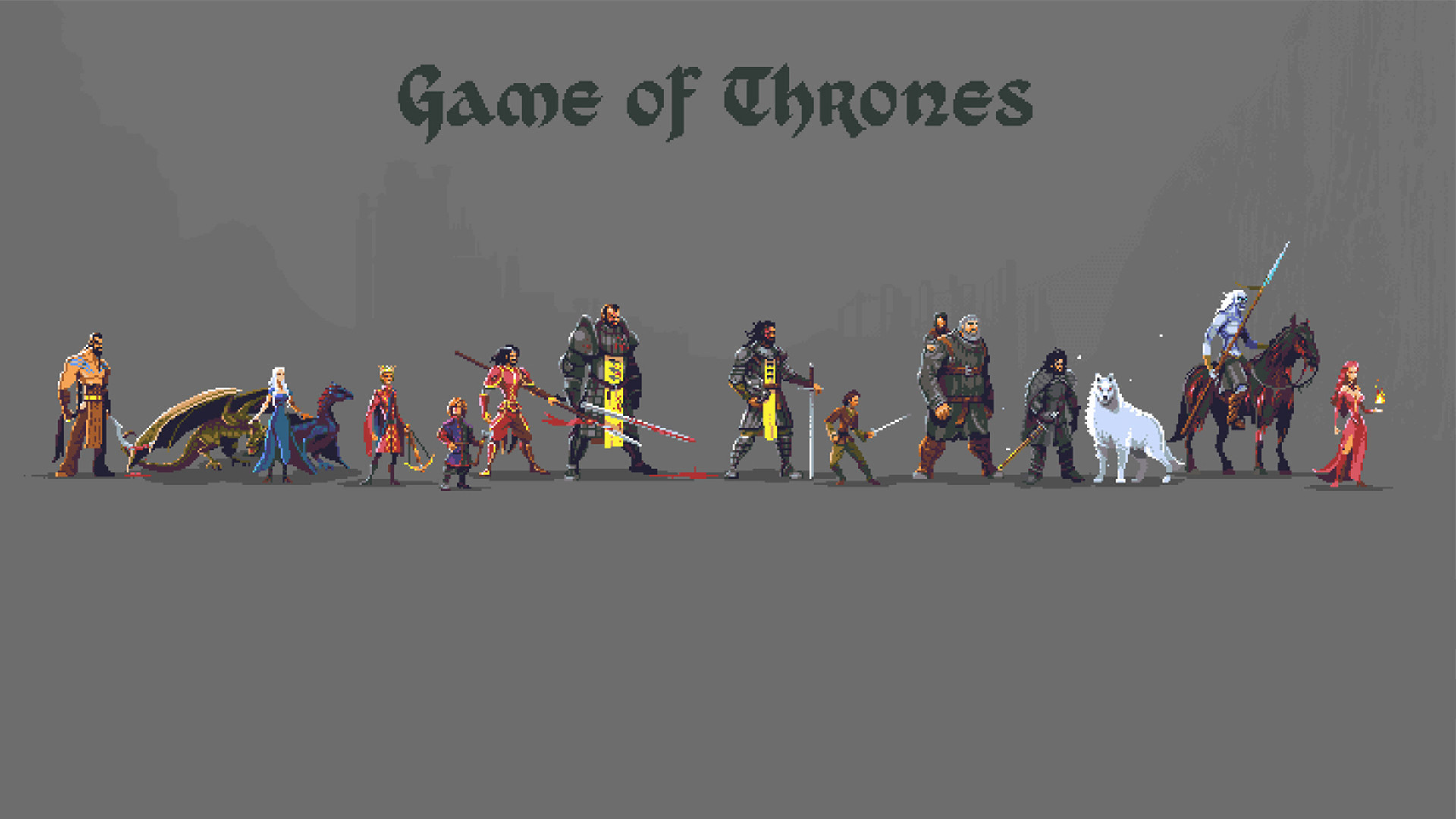 Game of Thrones Pixel art [1920×1080] : wallpapers