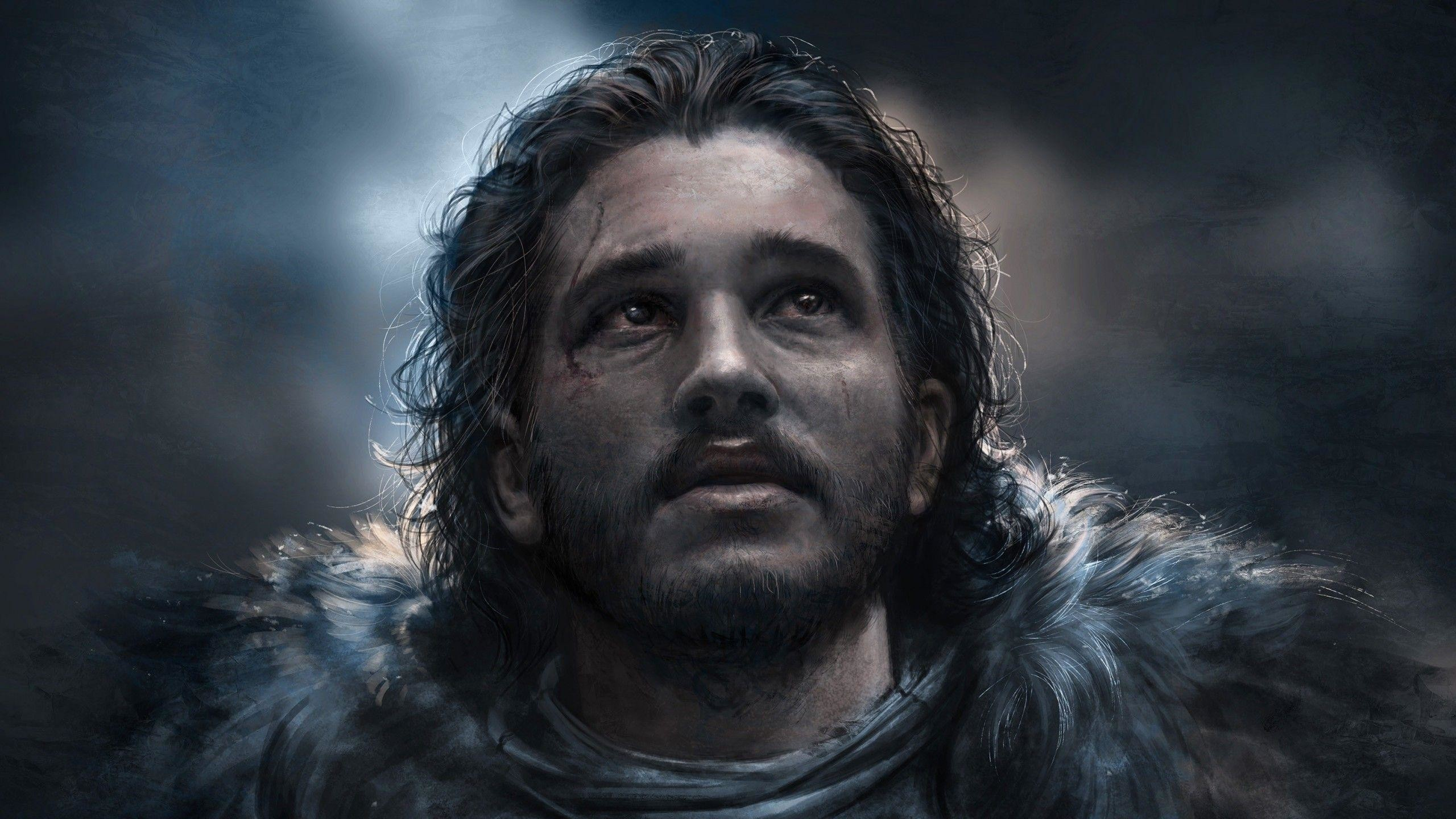 Download Jon Snow, Painting, Game Of Thrones Wallpapers .