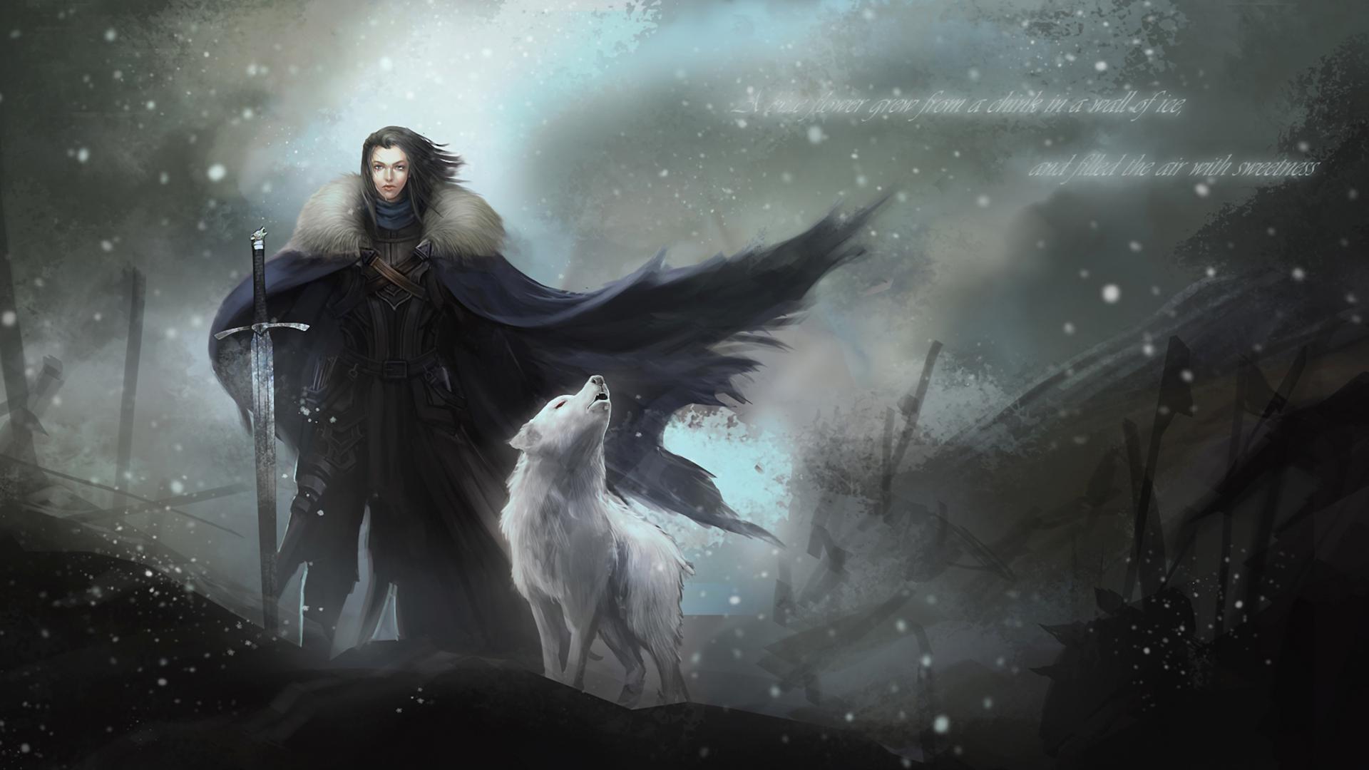 https://staticdn.lovities.com/img/post/719612004/jon-snow-y-fantasma-15507.jpeg    Winter is coming   Pinterest