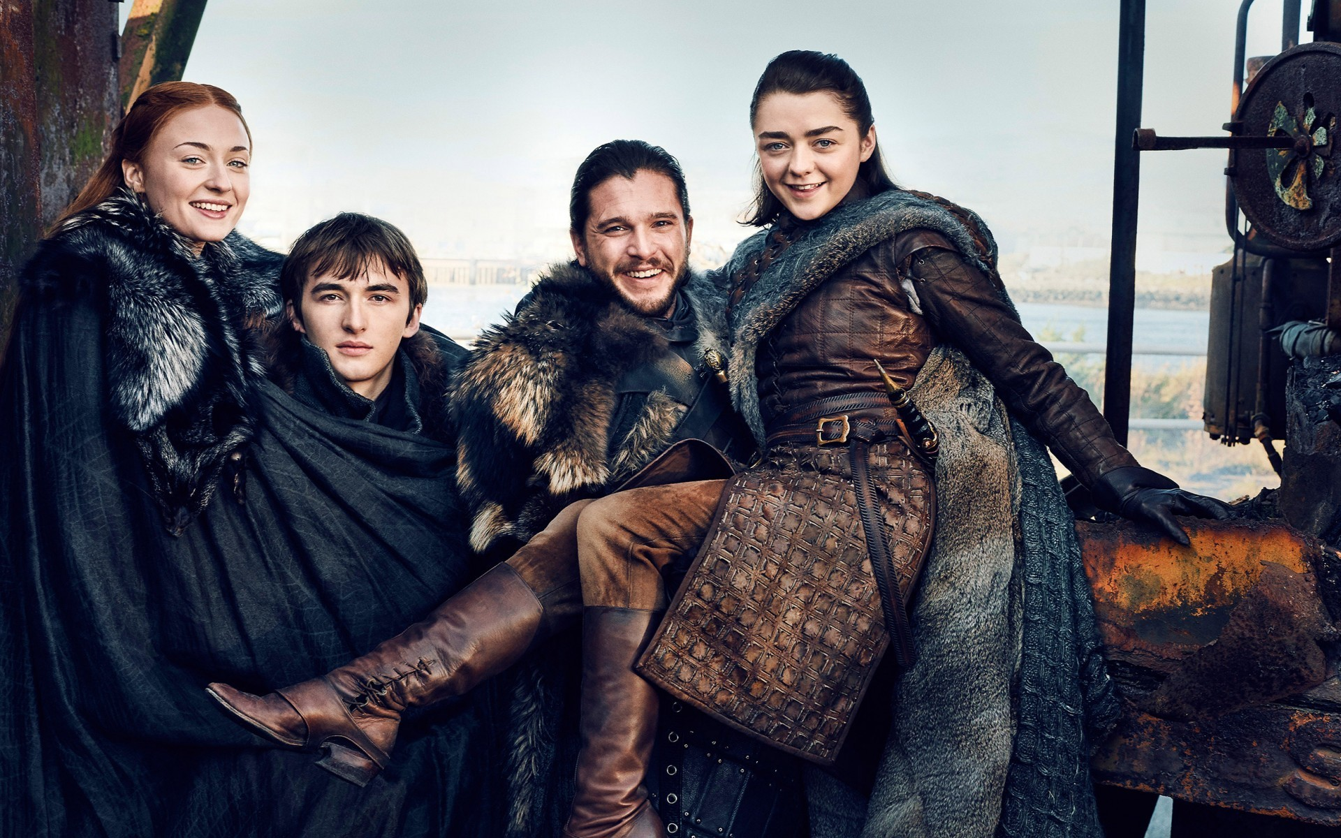 Sansa Stark, Bran Stark, Game of Thrones 2017, Jon Snow, Arya Stark, Isaac  Hempstead-Wright, Kit Harington, Maisie Williams, Sophie Turner