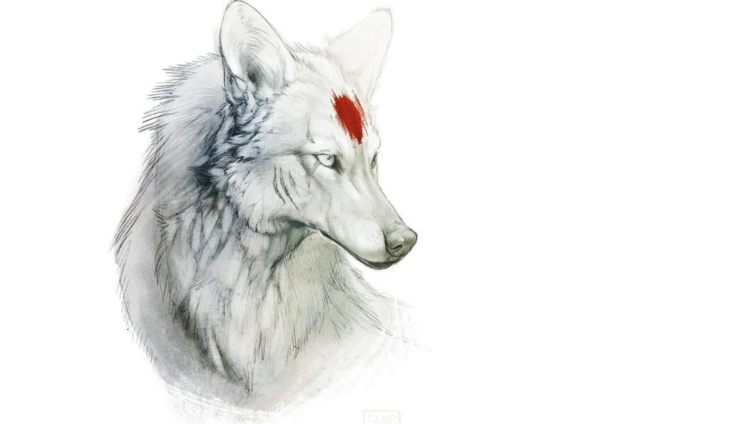 Minimalistic Princess Mononoke Wolves Wallpapers HD / Desktop and Mobile  Backgrounds